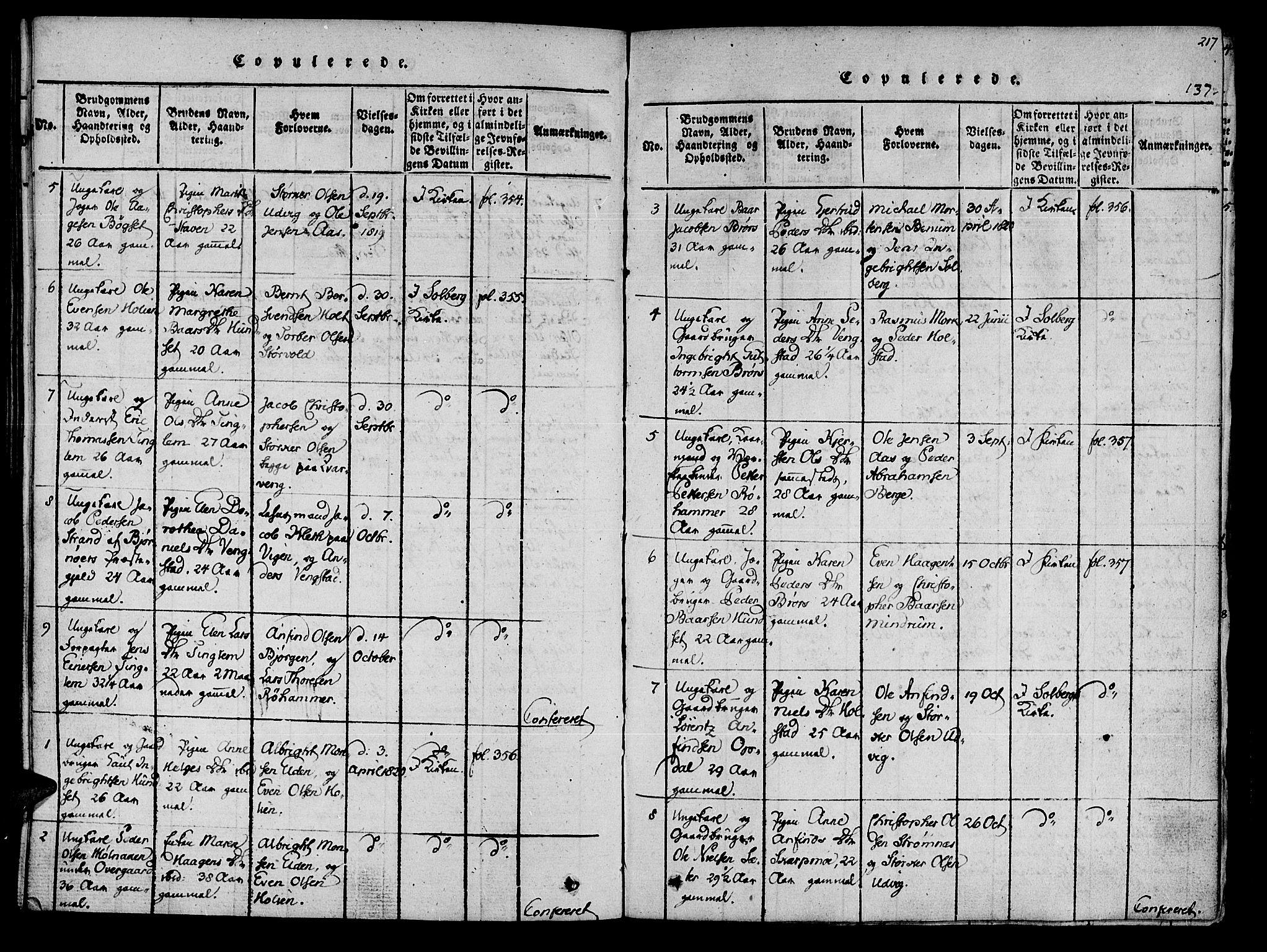 SAT, Ministerialprotokoller, klokkerbøker og fødselsregistre - Nord-Trøndelag, 741/L0387: Ministerialbok nr. 741A03 /3, 1817-1822, s. 137