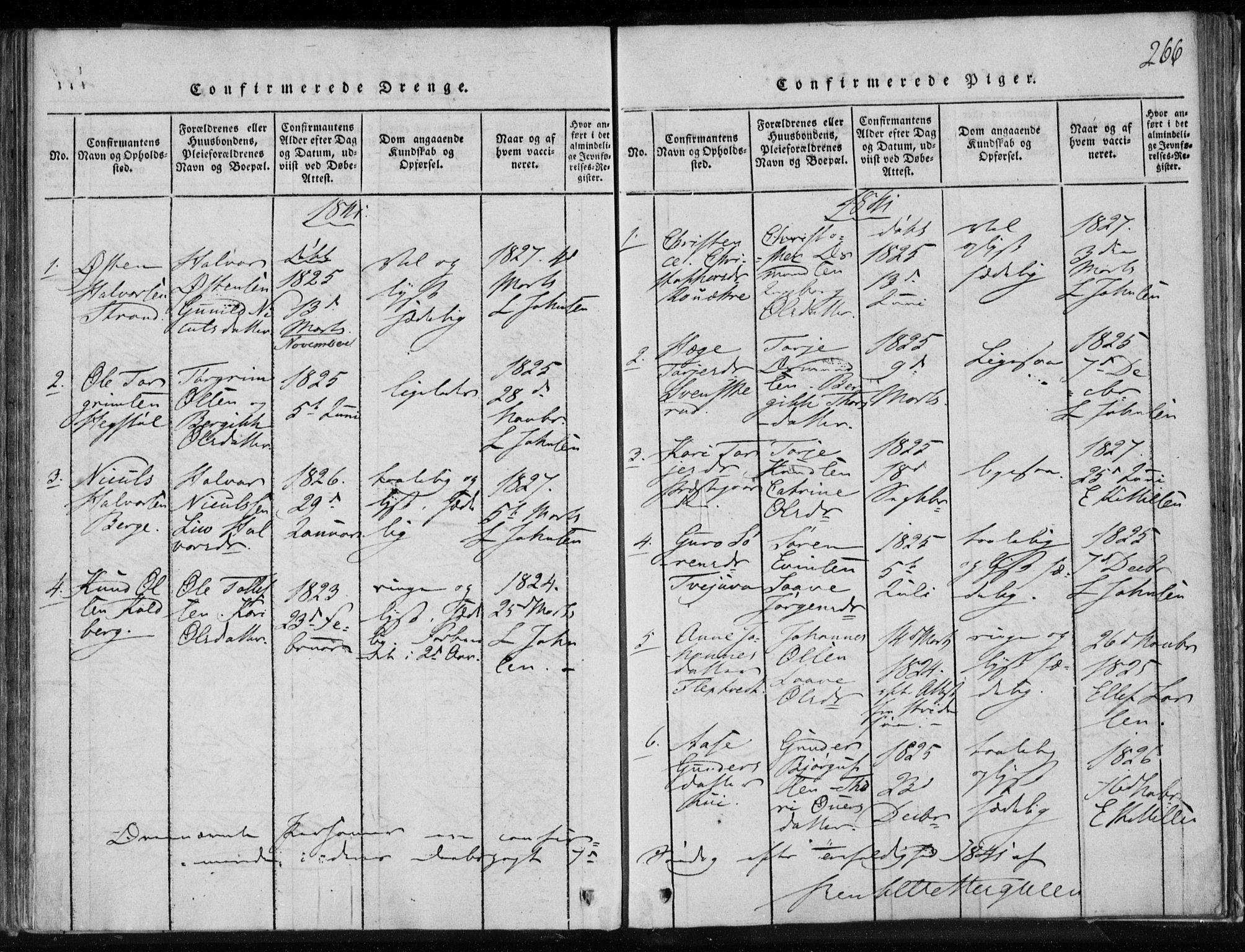 SAKO, Lårdal kirkebøker, F/Fa/L0005: Ministerialbok nr. I 5, 1815-1860, s. 266