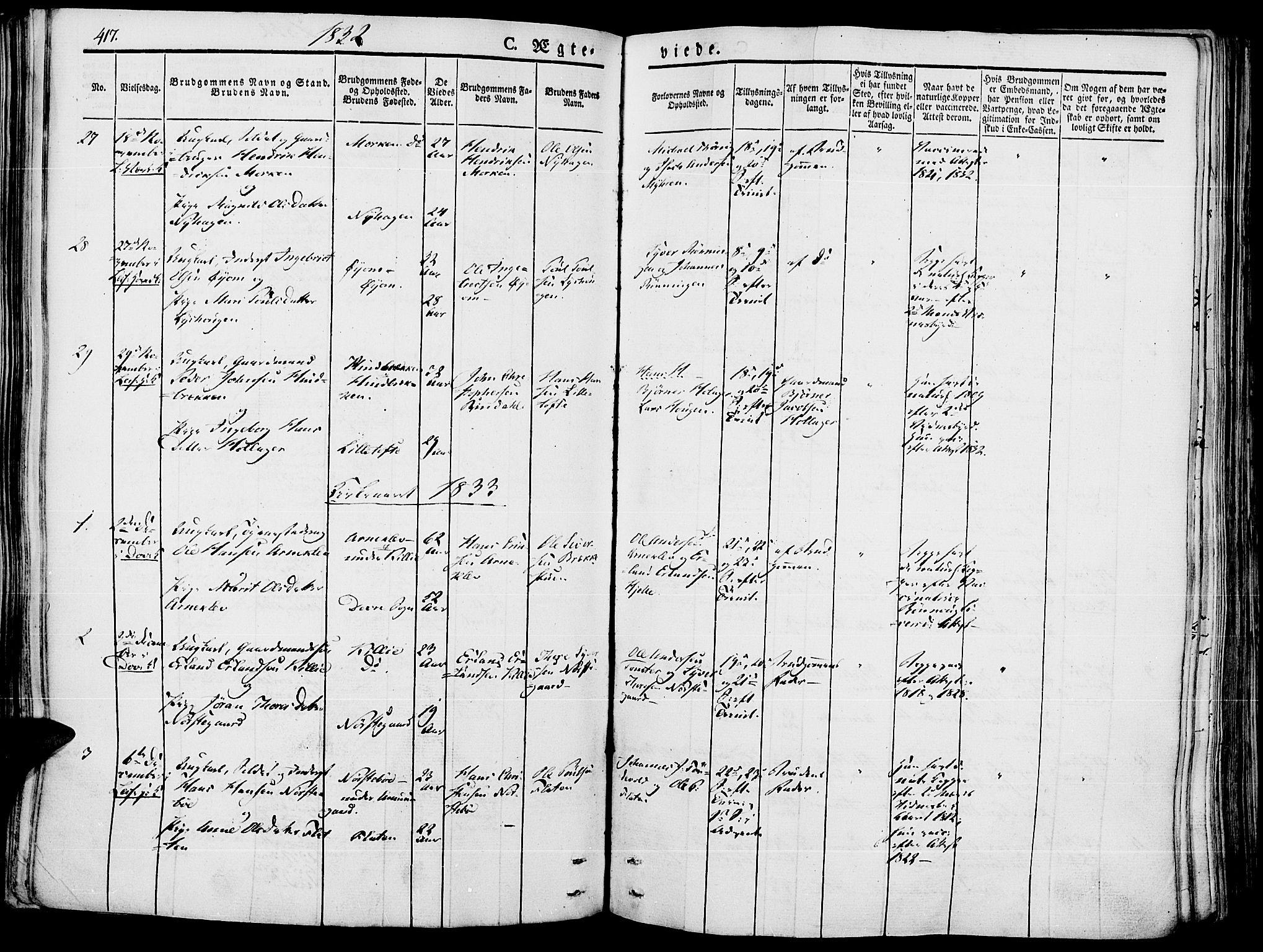 SAH, Lesja prestekontor, Ministerialbok nr. 5, 1830-1842, s. 417