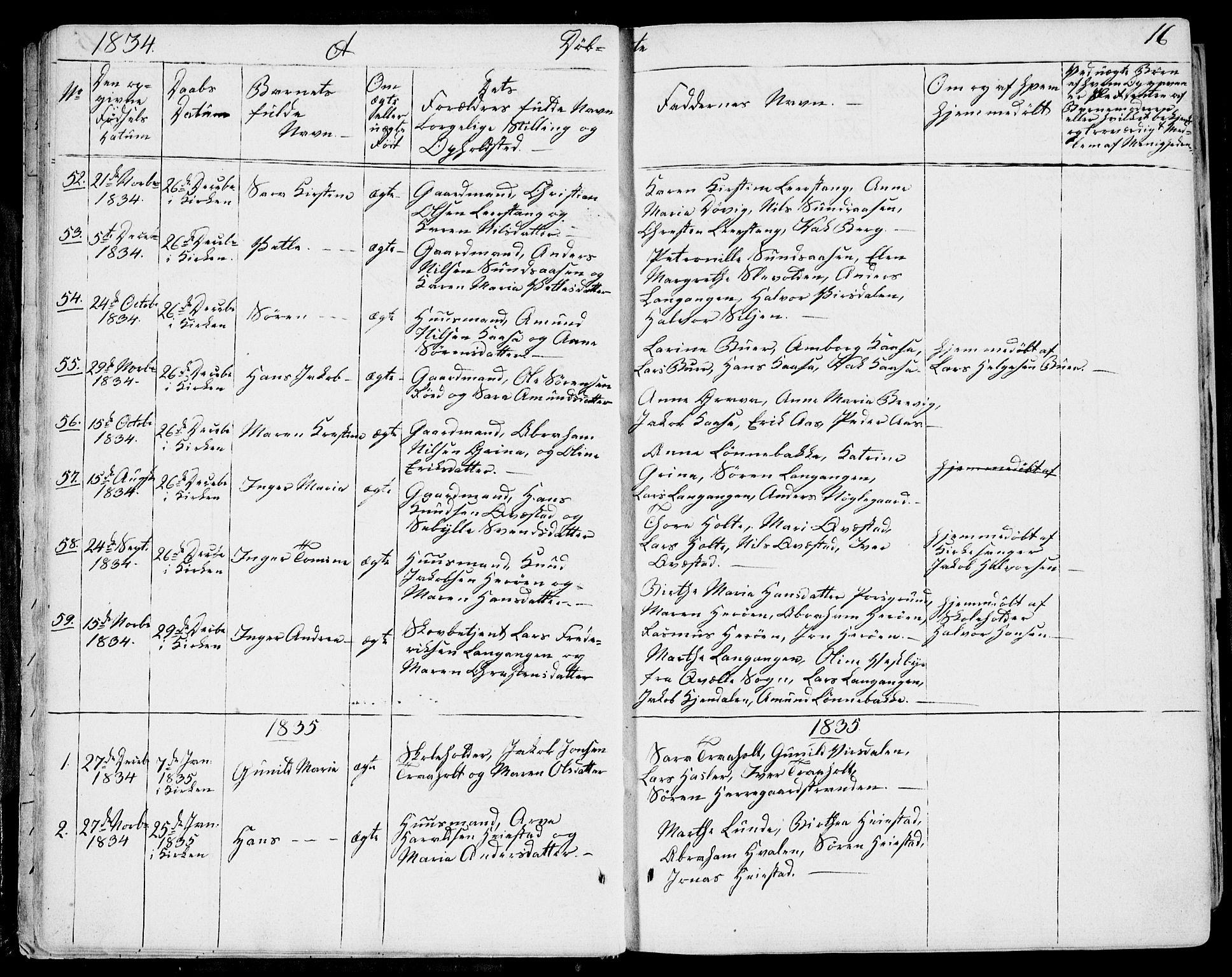 SAKO, Eidanger kirkebøker, F/Fa/L0008: Ministerialbok nr. 8, 1831-1858, s. 16