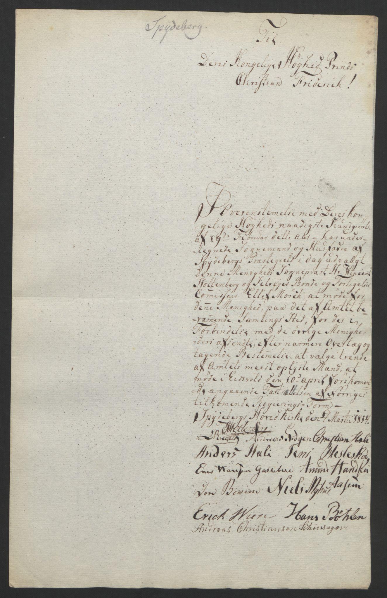 RA, Statsrådssekretariatet, D/Db/L0007: Fullmakter for Eidsvollsrepresentantene i 1814. , 1814, s. 166