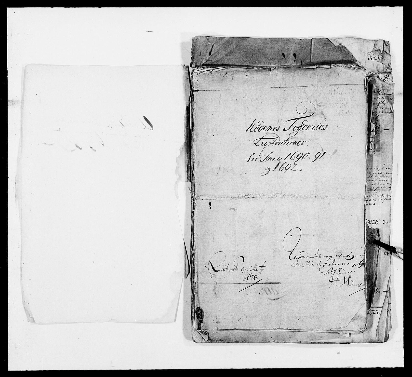 RA, Rentekammeret inntil 1814, Reviderte regnskaper, Fogderegnskap, R39/L2310: Fogderegnskap Nedenes, 1690-1692, s. 3