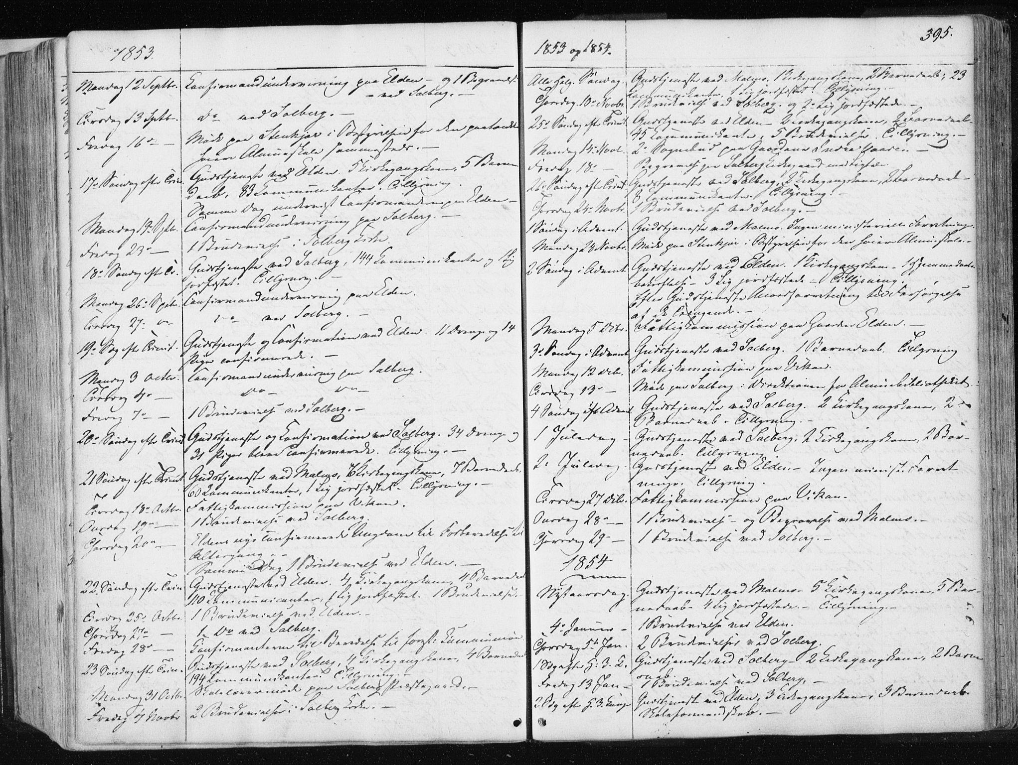 SAT, Ministerialprotokoller, klokkerbøker og fødselsregistre - Nord-Trøndelag, 741/L0393: Ministerialbok nr. 741A07, 1849-1863, s. 395