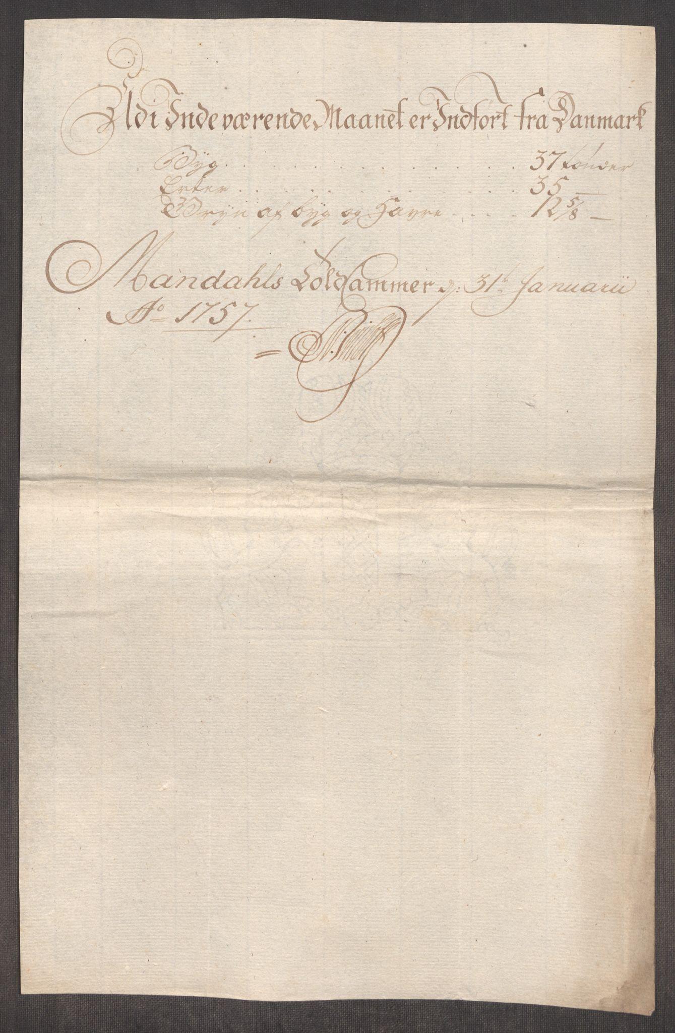 RA, Rentekammeret inntil 1814, Realistisk ordnet avdeling, Oe/L0005: [Ø1]: Priskuranter, 1753-1757, s. 913