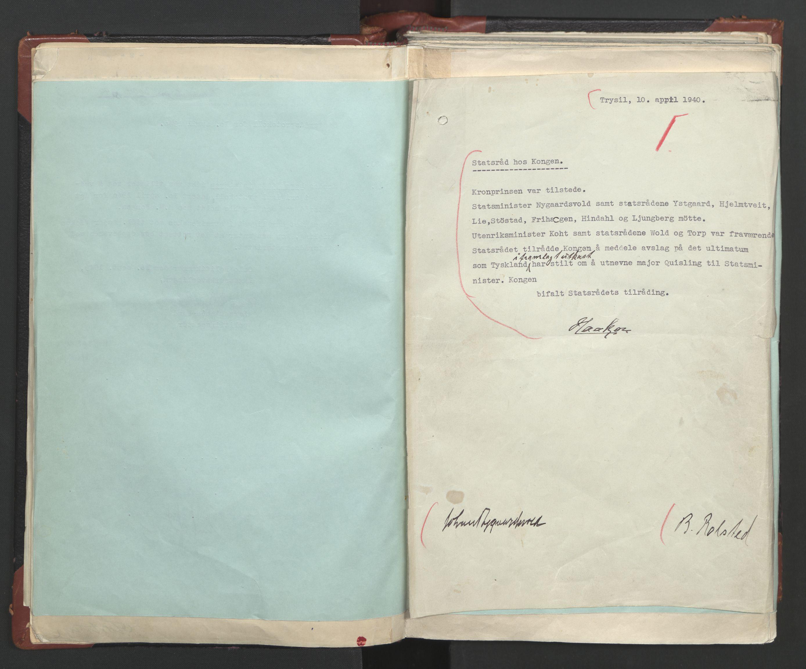 RA, Statsrådssekretariatet, A/Ac/L0122: Kgl. res. (9/4) 17/4 1940 -18/12 1942, 1940-1942, s. 18