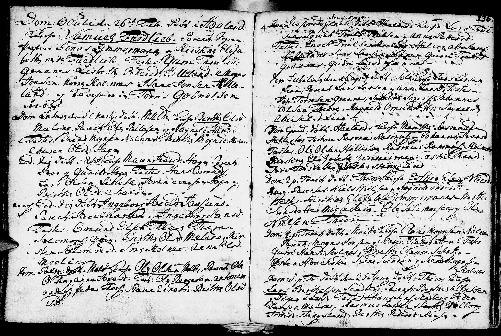 SAST, Håland sokneprestkontor, 30BA/L0002: Ministerialbok nr. A 2, 1722-1794, s. 136