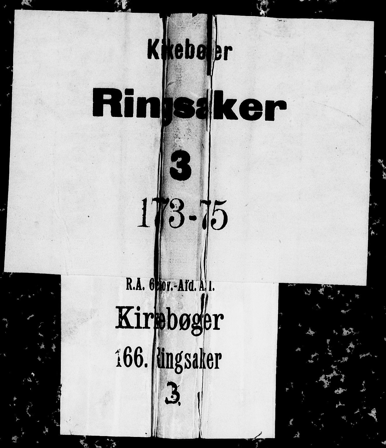 SAH, Ringsaker prestekontor, I/Ia/L0005/0001: Kladd til kirkebok nr. 1A, 1773-1775