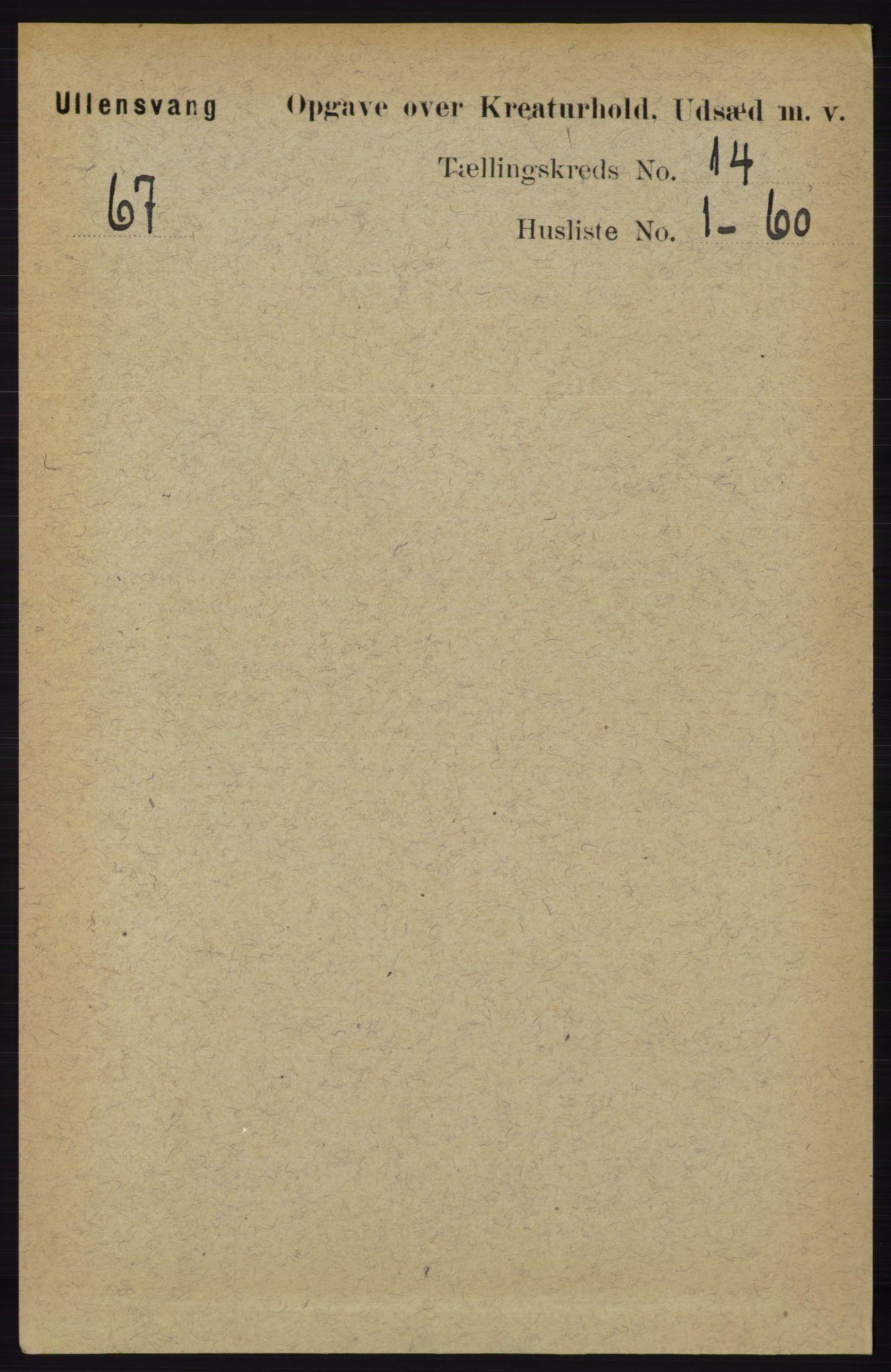 RA, Folketelling 1891 for 1230 Ullensvang herred, 1891, s. 8295