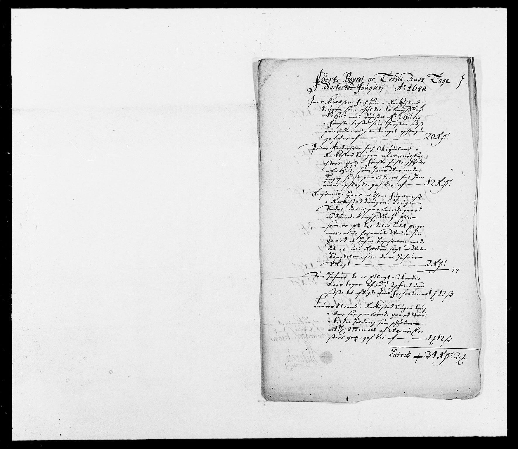 RA, Rentekammeret inntil 1814, Reviderte regnskaper, Fogderegnskap, R05/L0272: Fogderegnskap Rakkestad, 1680-1681, s. 78