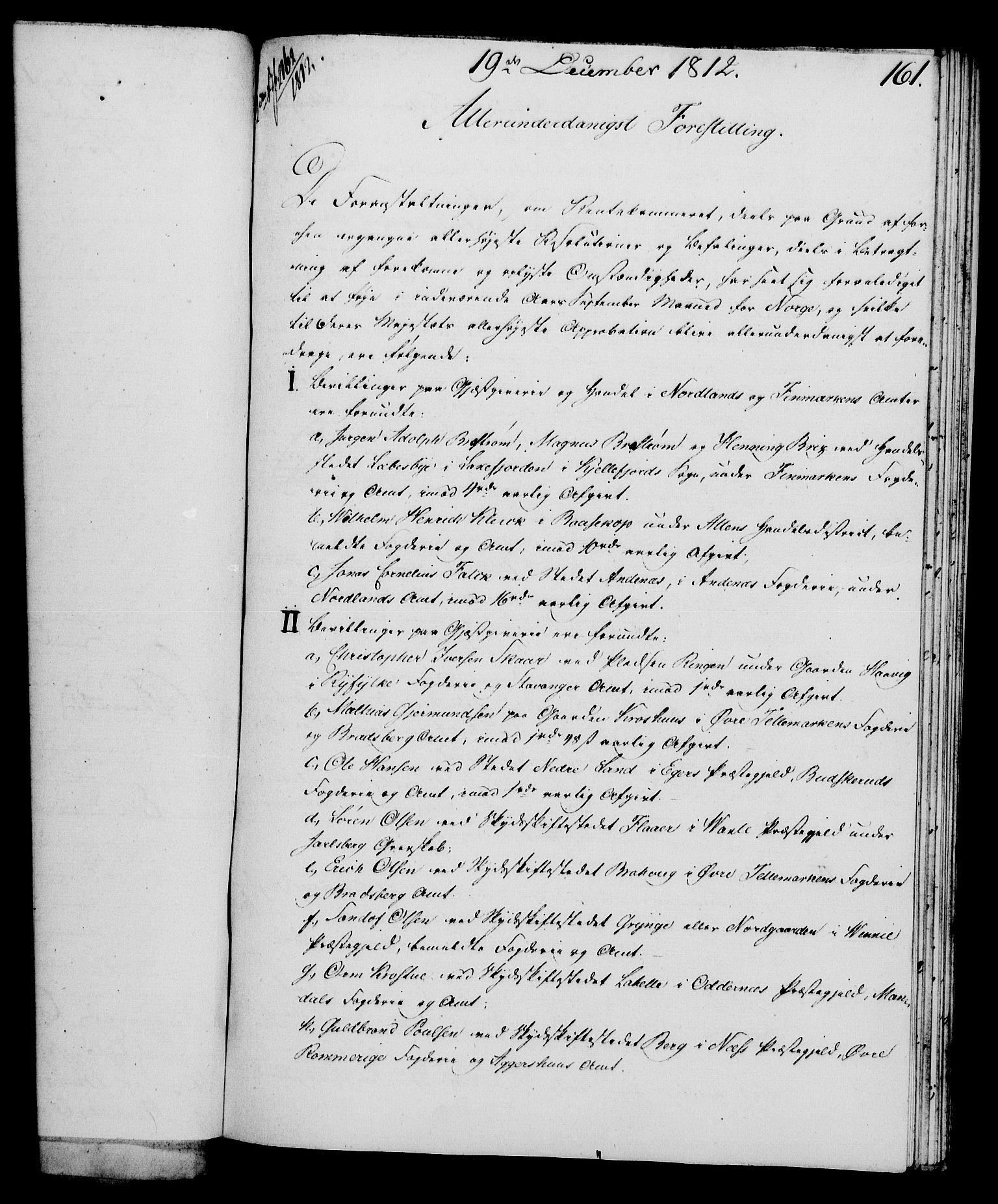 RA, Rentekammeret, Kammerkanselliet, G/Gf/Gfa/L0094: Norsk relasjons- og resolusjonsprotokoll (merket RK 52.94), 1812, s. 607