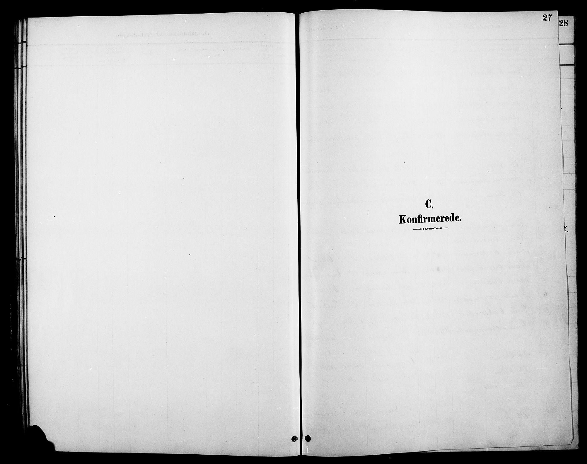 SAH, Øystre Slidre prestekontor, Klokkerbok nr. 6, 1887-1916, s. 27