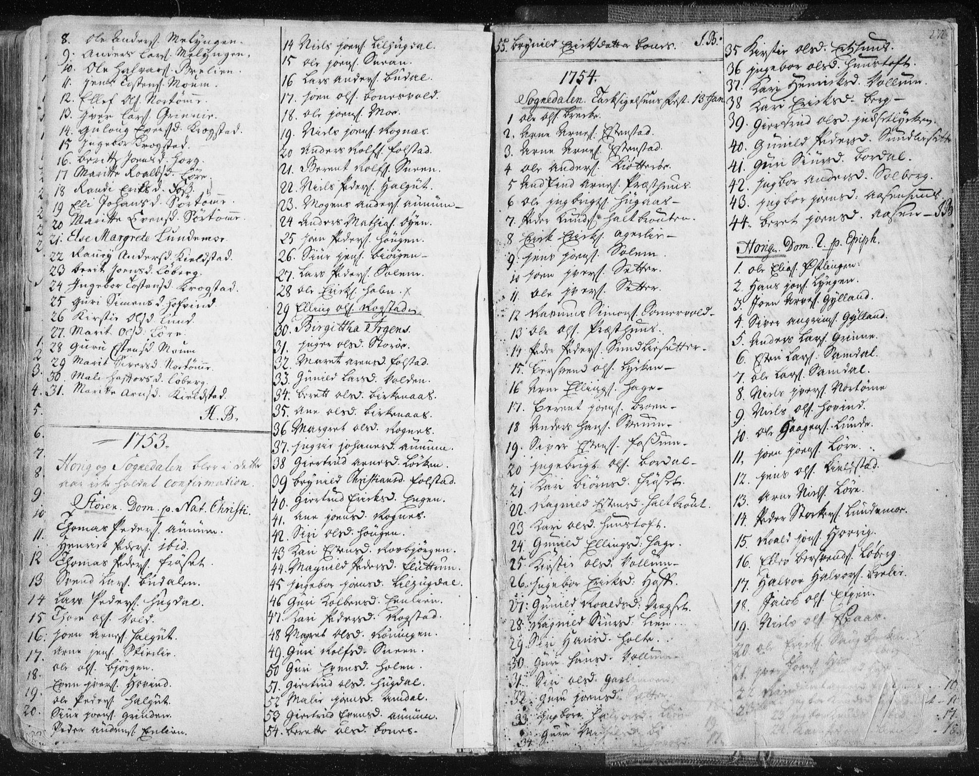 SAT, Ministerialprotokoller, klokkerbøker og fødselsregistre - Sør-Trøndelag, 687/L0991: Ministerialbok nr. 687A02, 1747-1790, s. 276