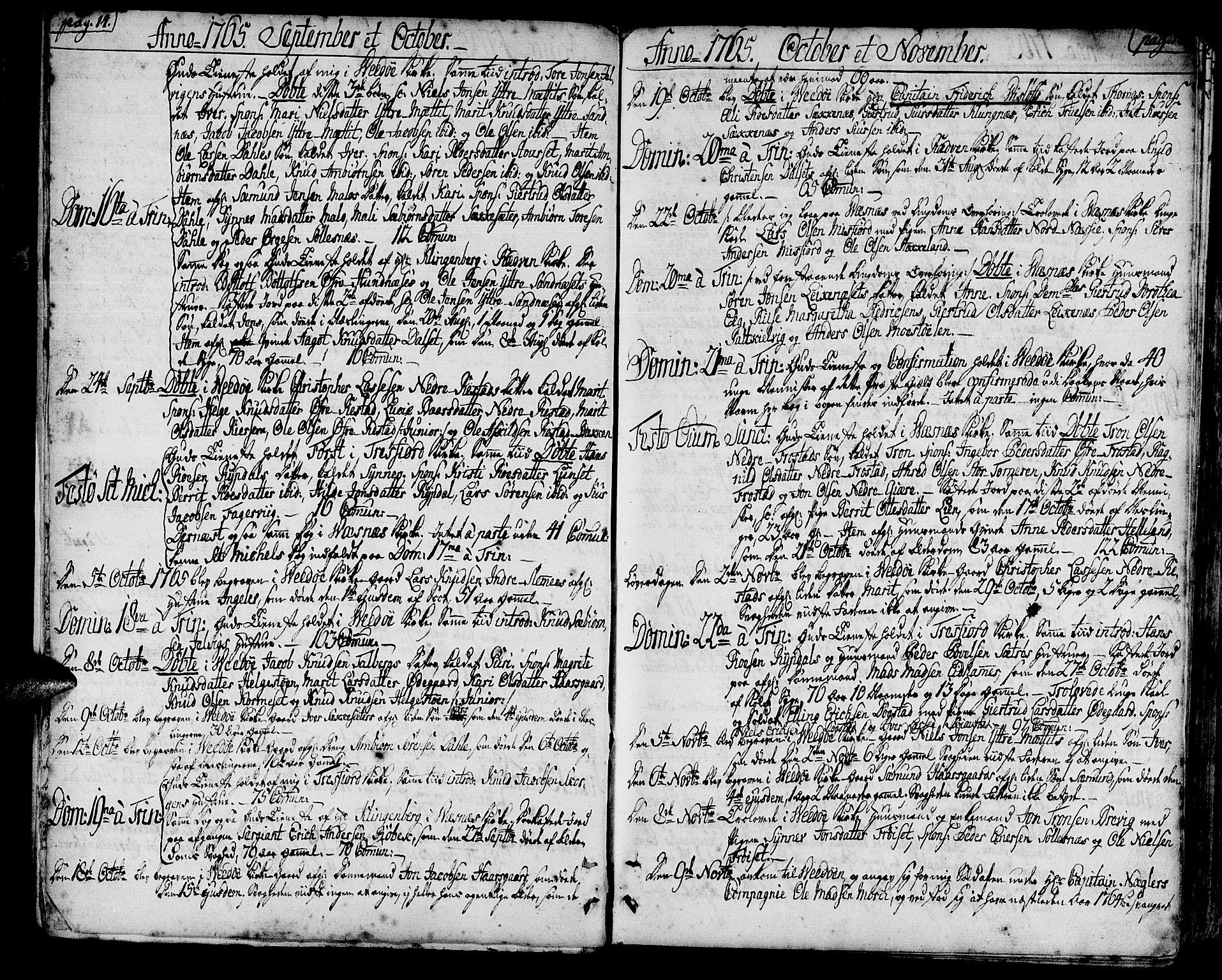 SAT, Ministerialprotokoller, klokkerbøker og fødselsregistre - Møre og Romsdal, 547/L0600: Ministerialbok nr. 547A02, 1765-1799, s. 14-15