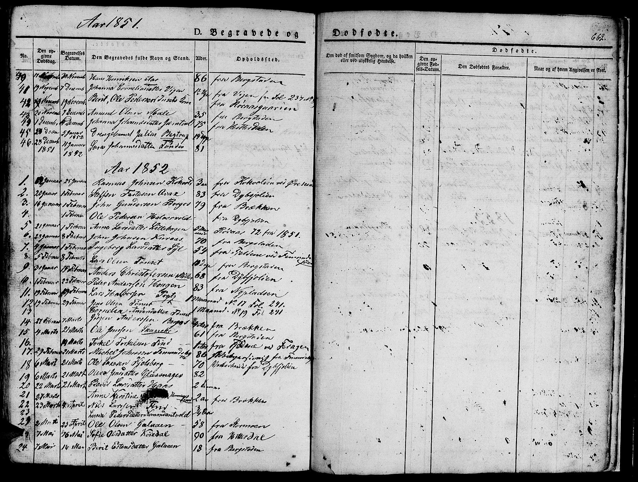 SAT, Ministerialprotokoller, klokkerbøker og fødselsregistre - Sør-Trøndelag, 681/L0939: Klokkerbok nr. 681C03, 1829-1855, s. 662
