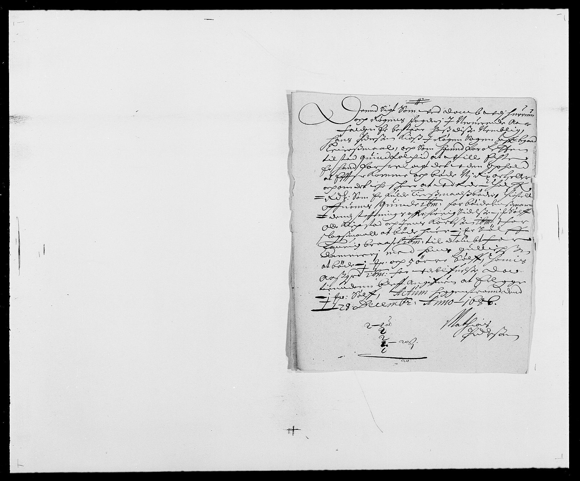 RA, Rentekammeret inntil 1814, Reviderte regnskaper, Fogderegnskap, R29/L1692: Fogderegnskap Hurum og Røyken, 1682-1687, s. 277