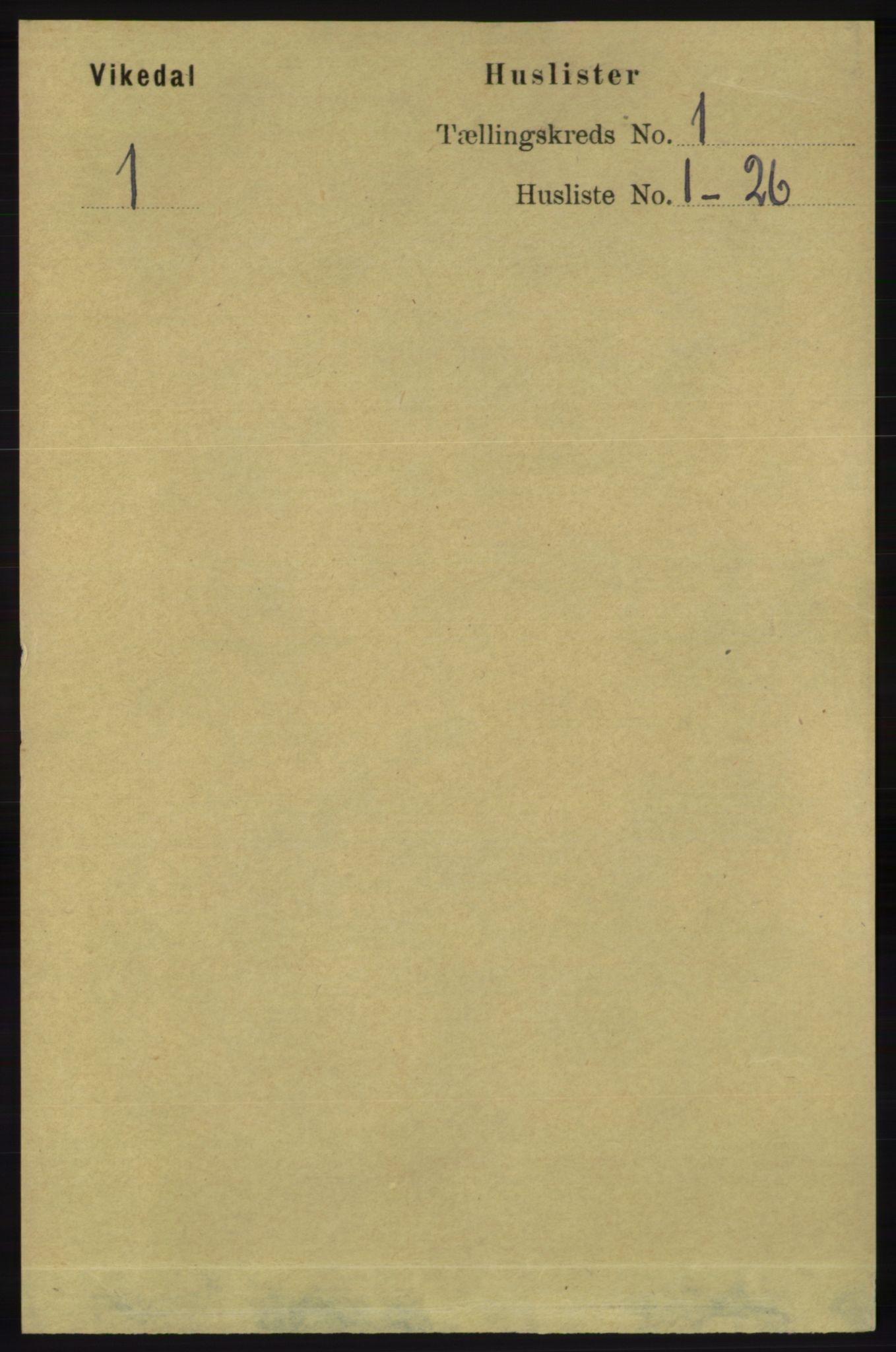 RA, Folketelling 1891 for 1157 Vikedal herred, 1891, s. 30