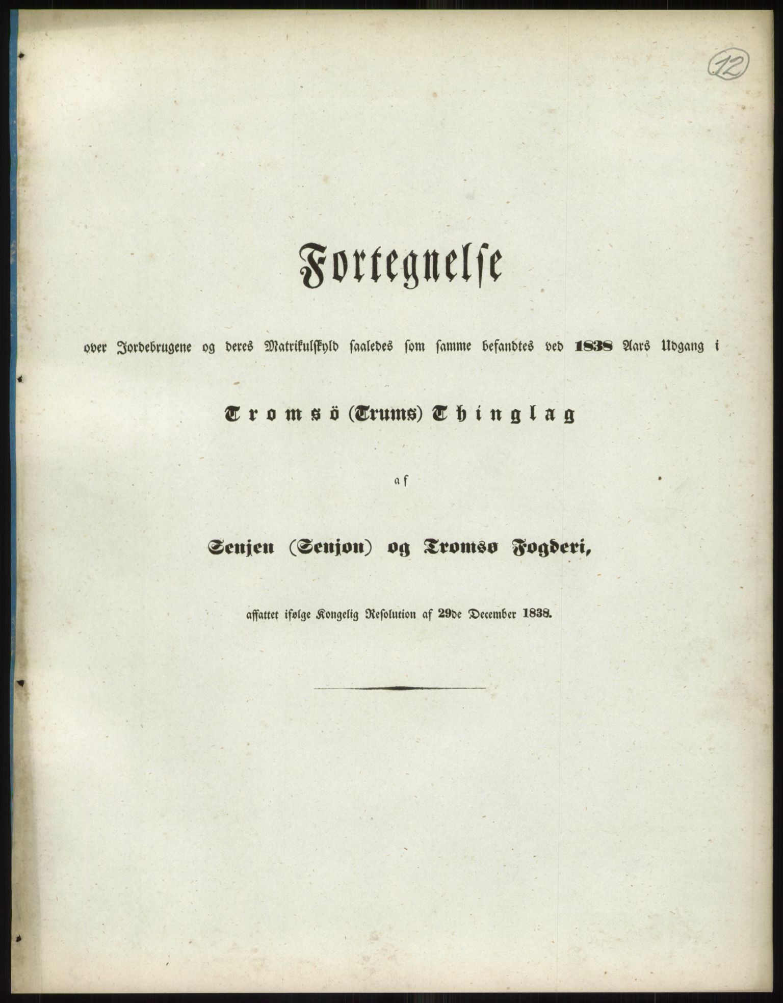 RA, 1838-matrikkelen (publikasjon)*, 1838, s. 12a