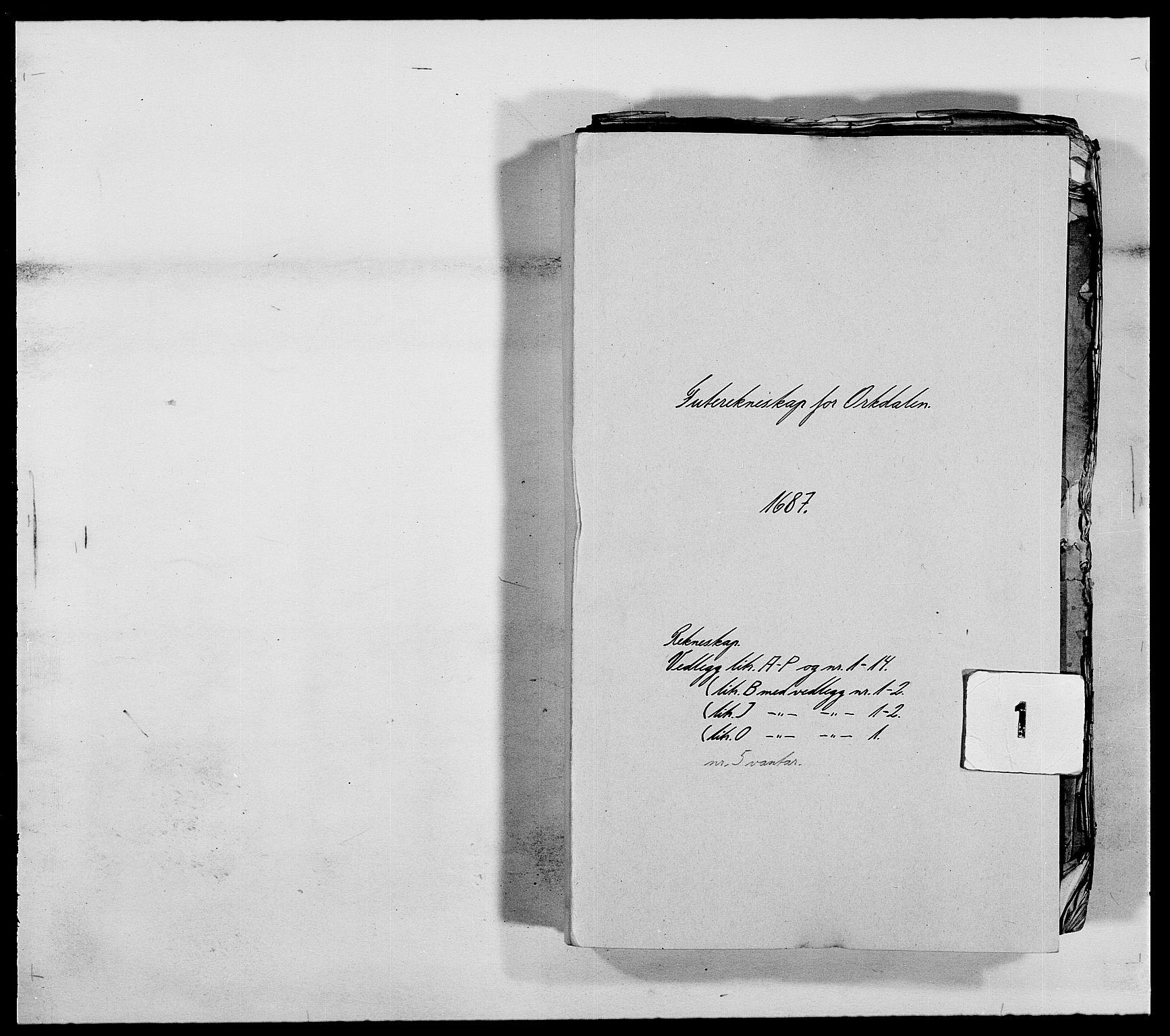 RA, Rentekammeret inntil 1814, Reviderte regnskaper, Fogderegnskap, R58/L3935: Fogderegnskap Orkdal, 1687-1688, s. 1