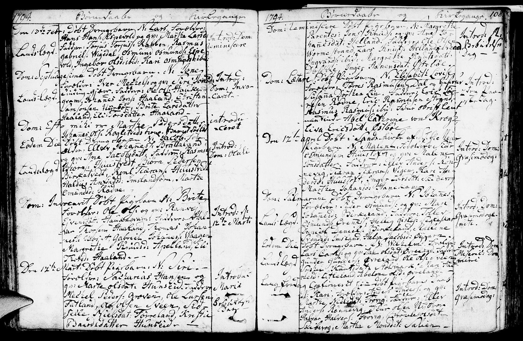 SAST, Vikedal sokneprestkontor, IV: Ministerialbok nr. A 2, 1779-1817, s. 108