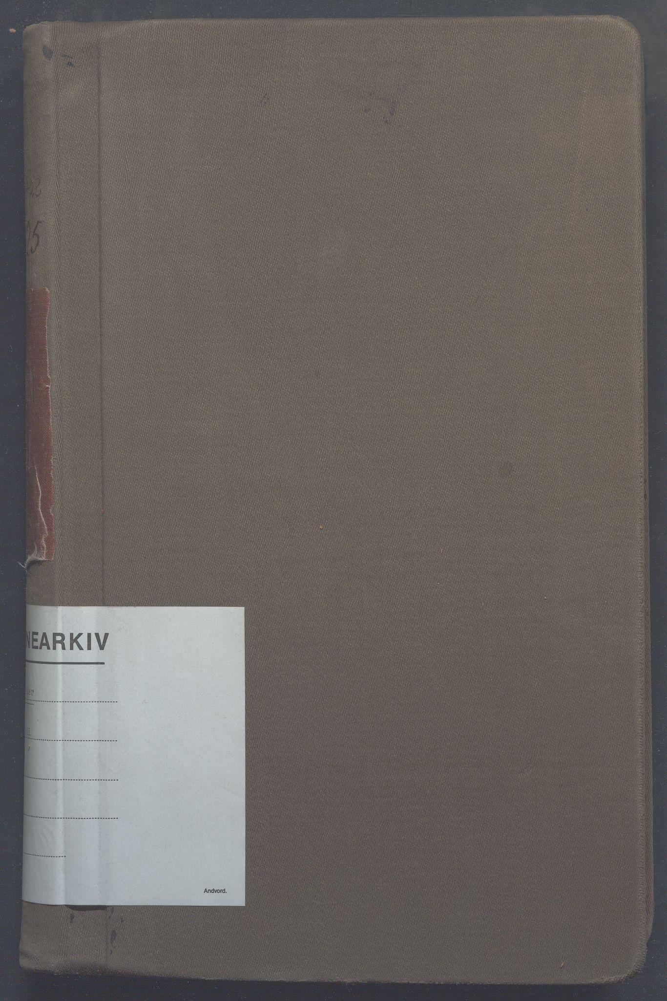 OBA, Lensmennene i Aker, F/Fc/L0022: Branntakstprotokoll, 1922-1925