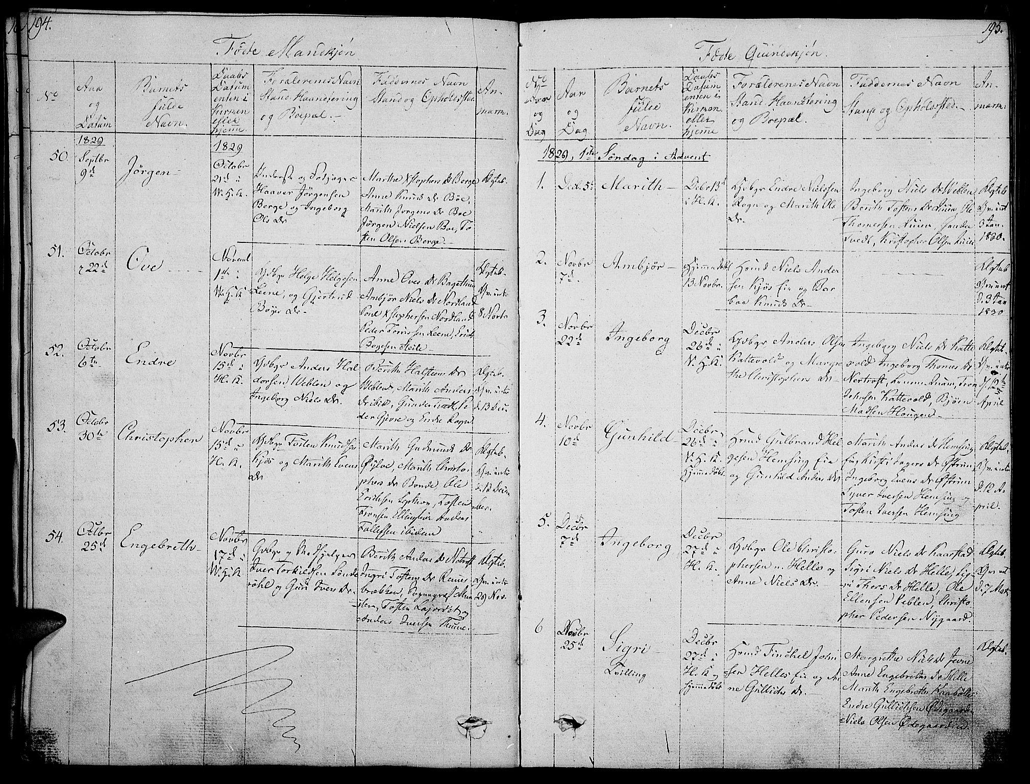 SAH, Vang prestekontor, Valdres, Ministerialbok nr. 3, 1809-1831, s. 194-195