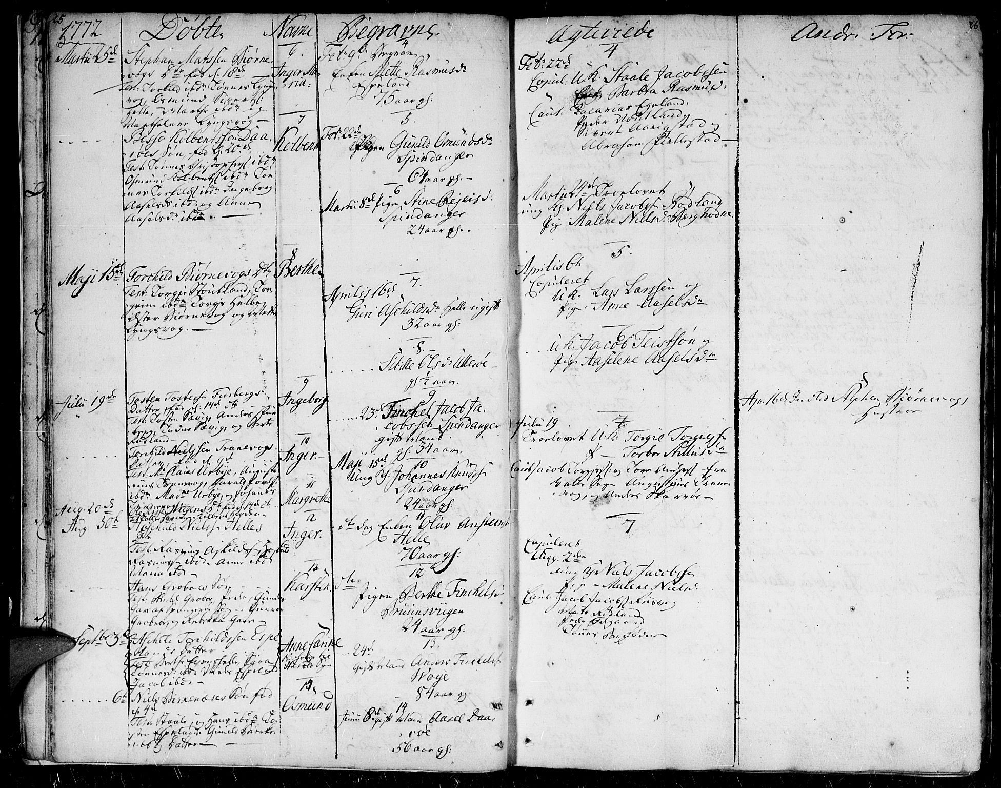 SAK, Herad sokneprestkontor, F/Fa/Faa/L0001: Ministerialbok nr. A 1 /2, 1768-1797, s. 25-26
