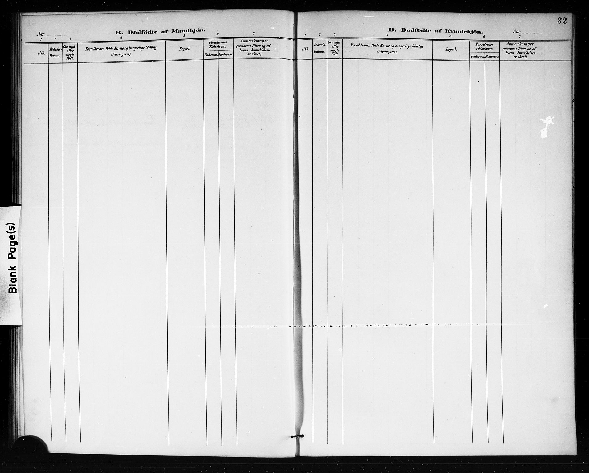 SAKO, Lårdal kirkebøker, G/Gb/L0003: Klokkerbok nr. II 3, 1889-1920, s. 32