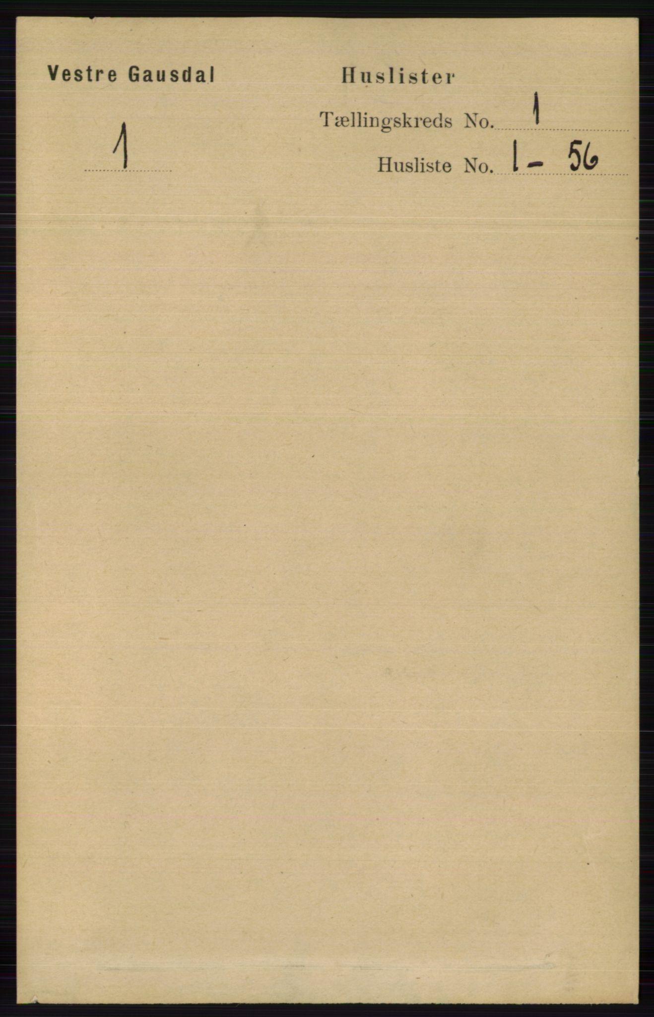 RA, Folketelling 1891 for 0523 Vestre Gausdal herred, 1891, s. 23