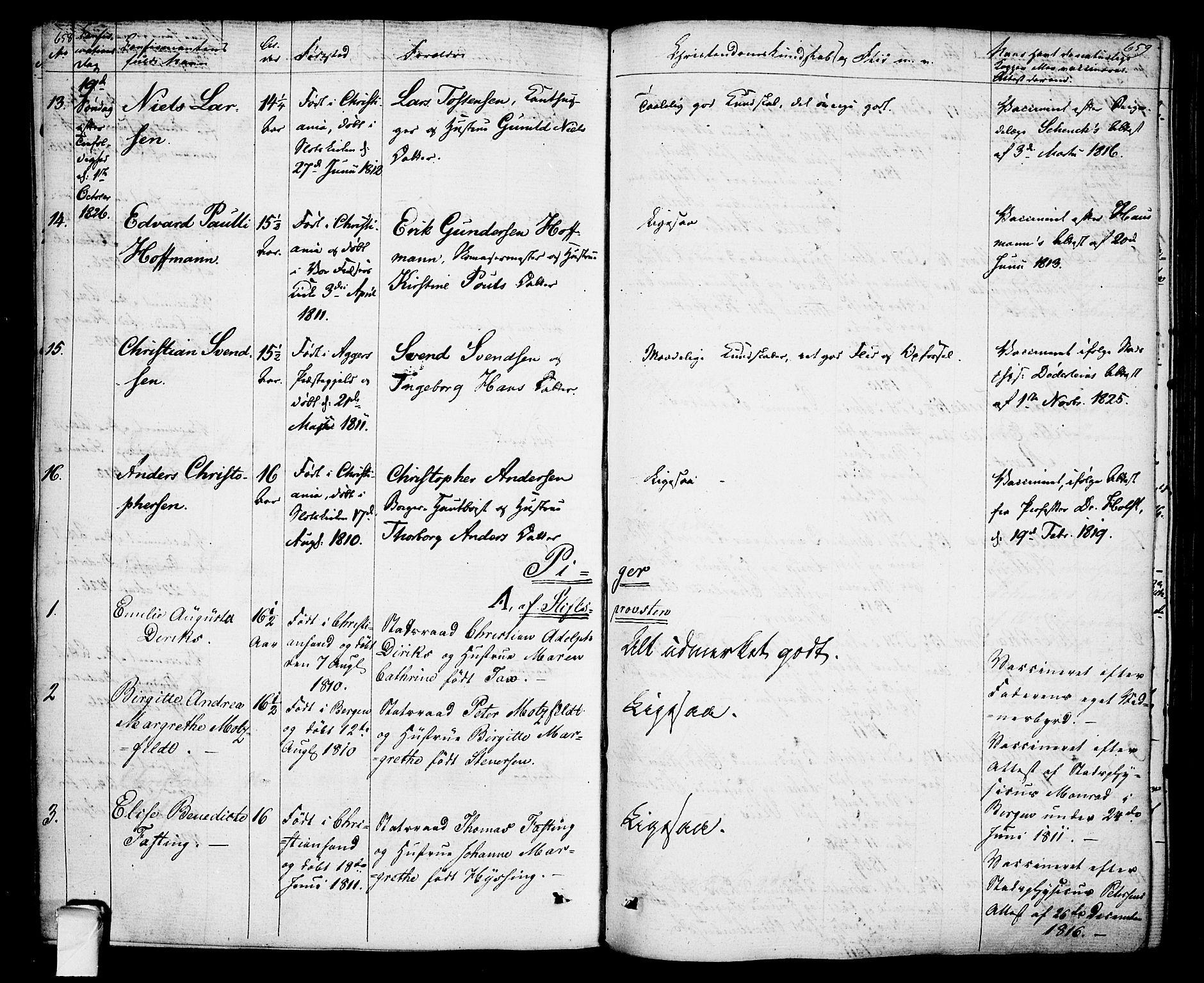 SAO, Oslo domkirke Kirkebøker, F/Fa/L0010: Ministerialbok nr. 10, 1824-1830, s. 658-659