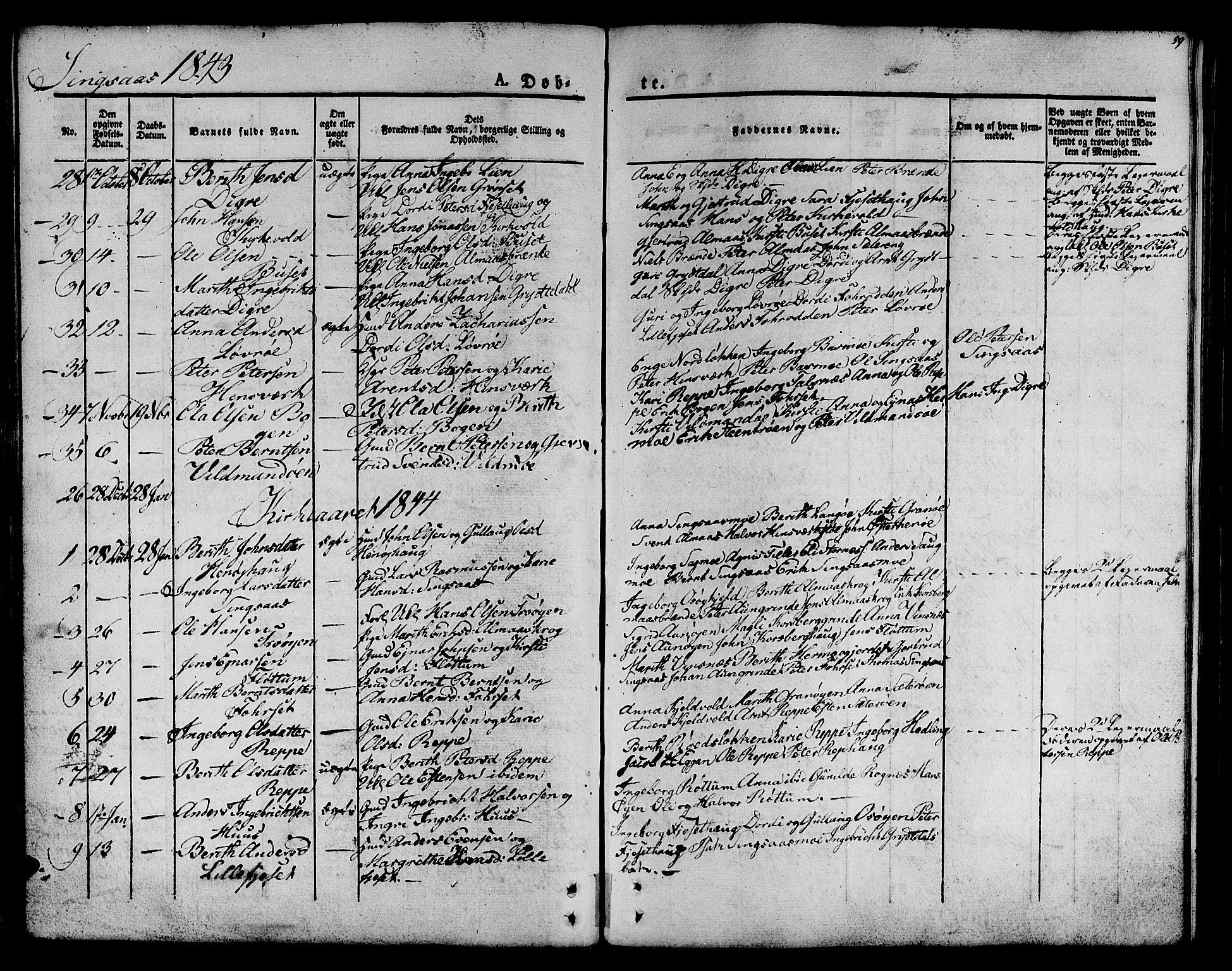 SAT, Ministerialprotokoller, klokkerbøker og fødselsregistre - Sør-Trøndelag, 685/L0958: Ministerialbok nr. 685A04 /2, 1829-1845, s. 59