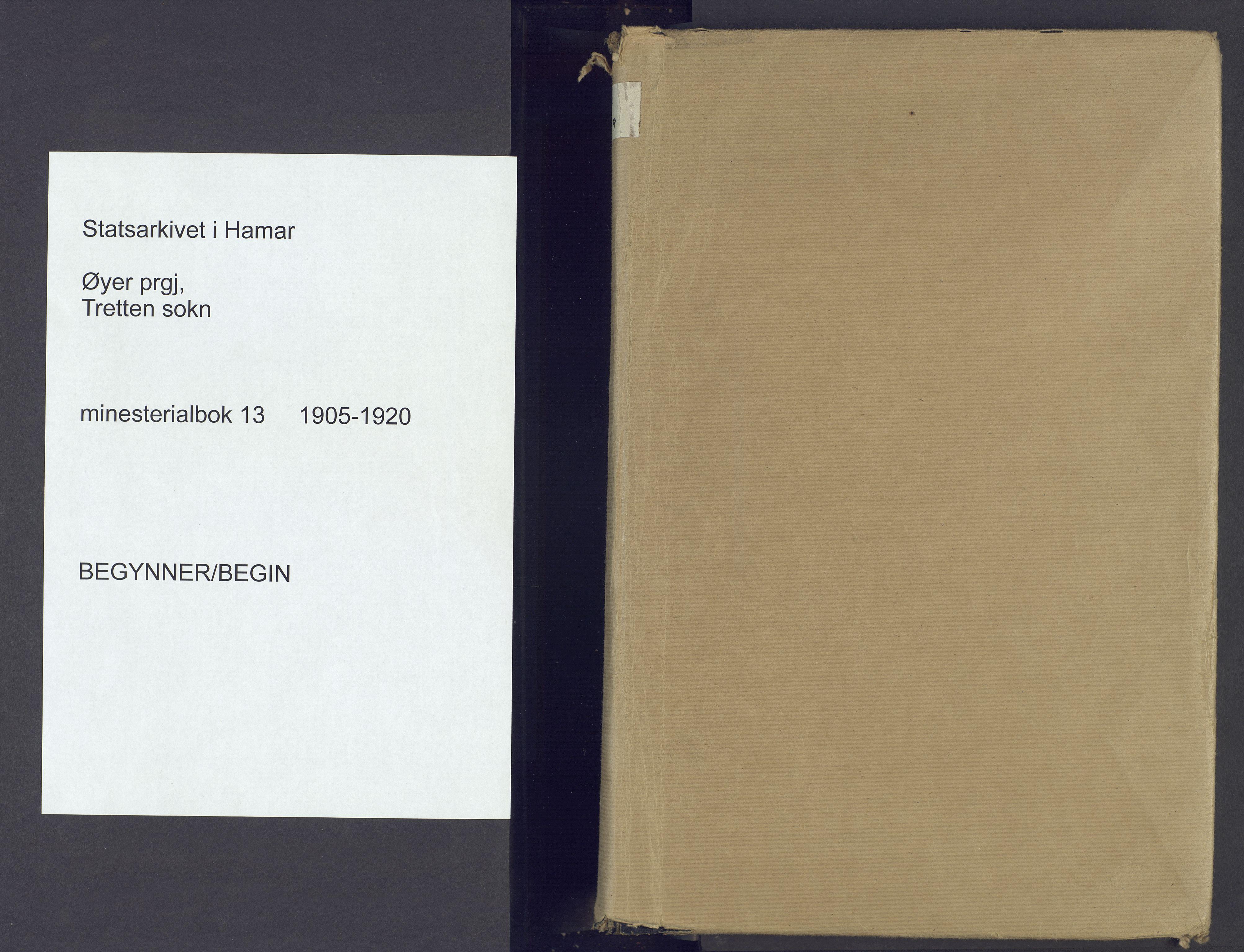 SAH, Øyer prestekontor, Ministerialbok nr. 13, 1905-1920