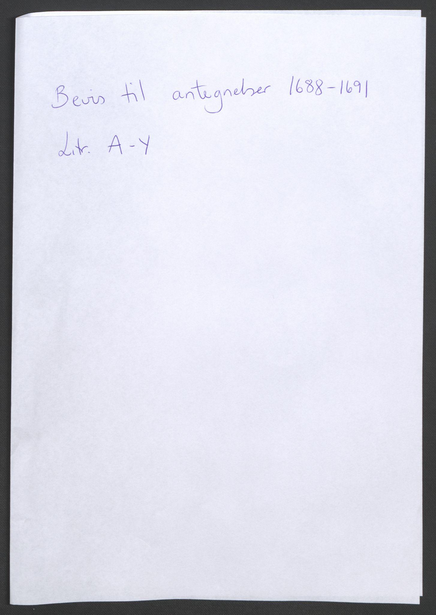 RA, Rentekammeret inntil 1814, Reviderte regnskaper, Fogderegnskap, R34/L2053: Fogderegnskap Bamble, 1693, s. 243
