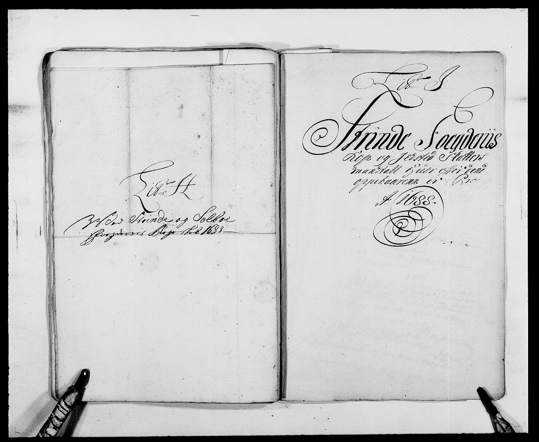 RA, Rentekammeret inntil 1814, Reviderte regnskaper, Fogderegnskap, R61/L4101: Fogderegnskap Strinda og Selbu, 1687-1688, s. 203