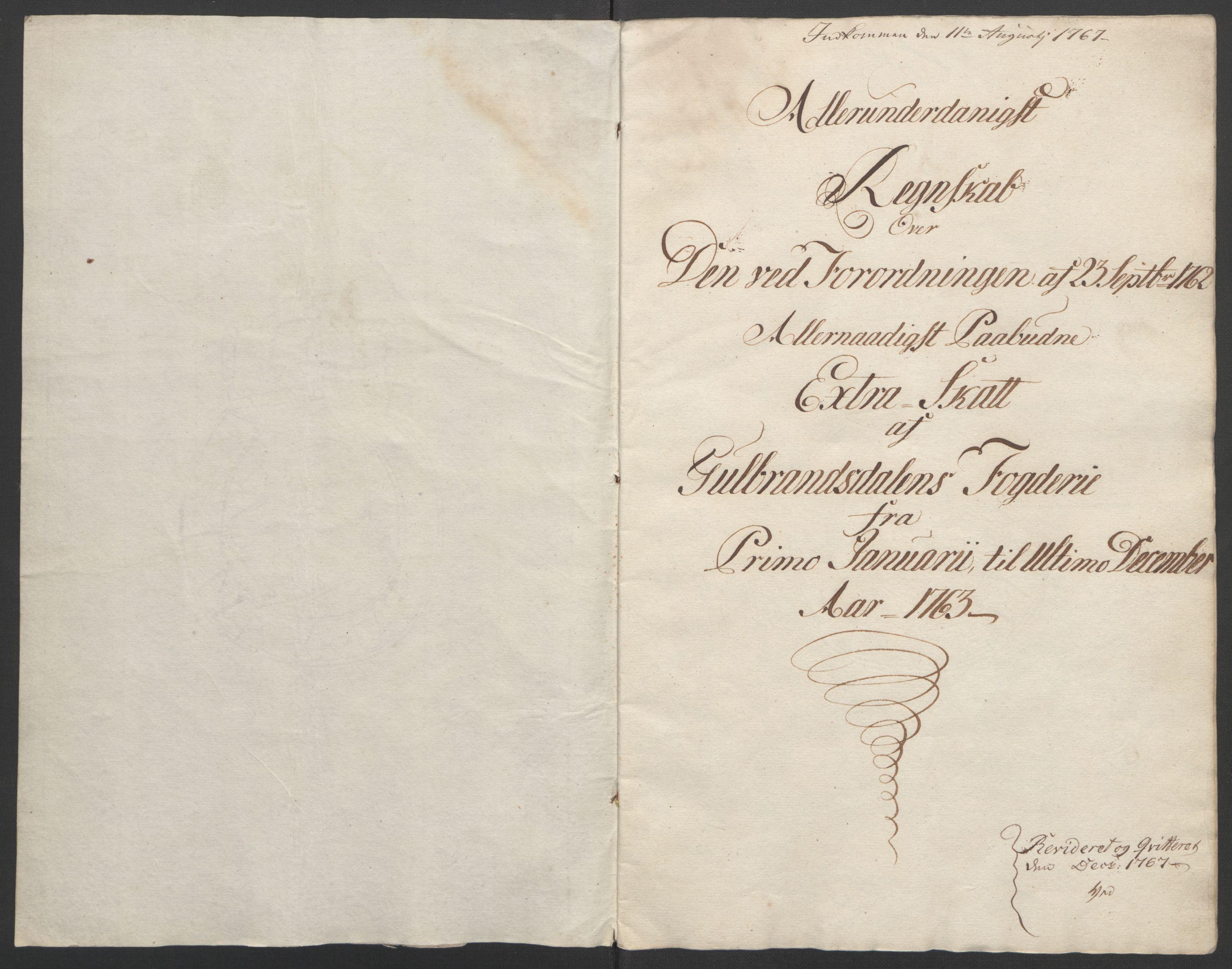 RA, Rentekammeret inntil 1814, Reviderte regnskaper, Fogderegnskap, R17/L1266: Ekstraskatten Gudbrandsdal, 1762-1766, s. 71