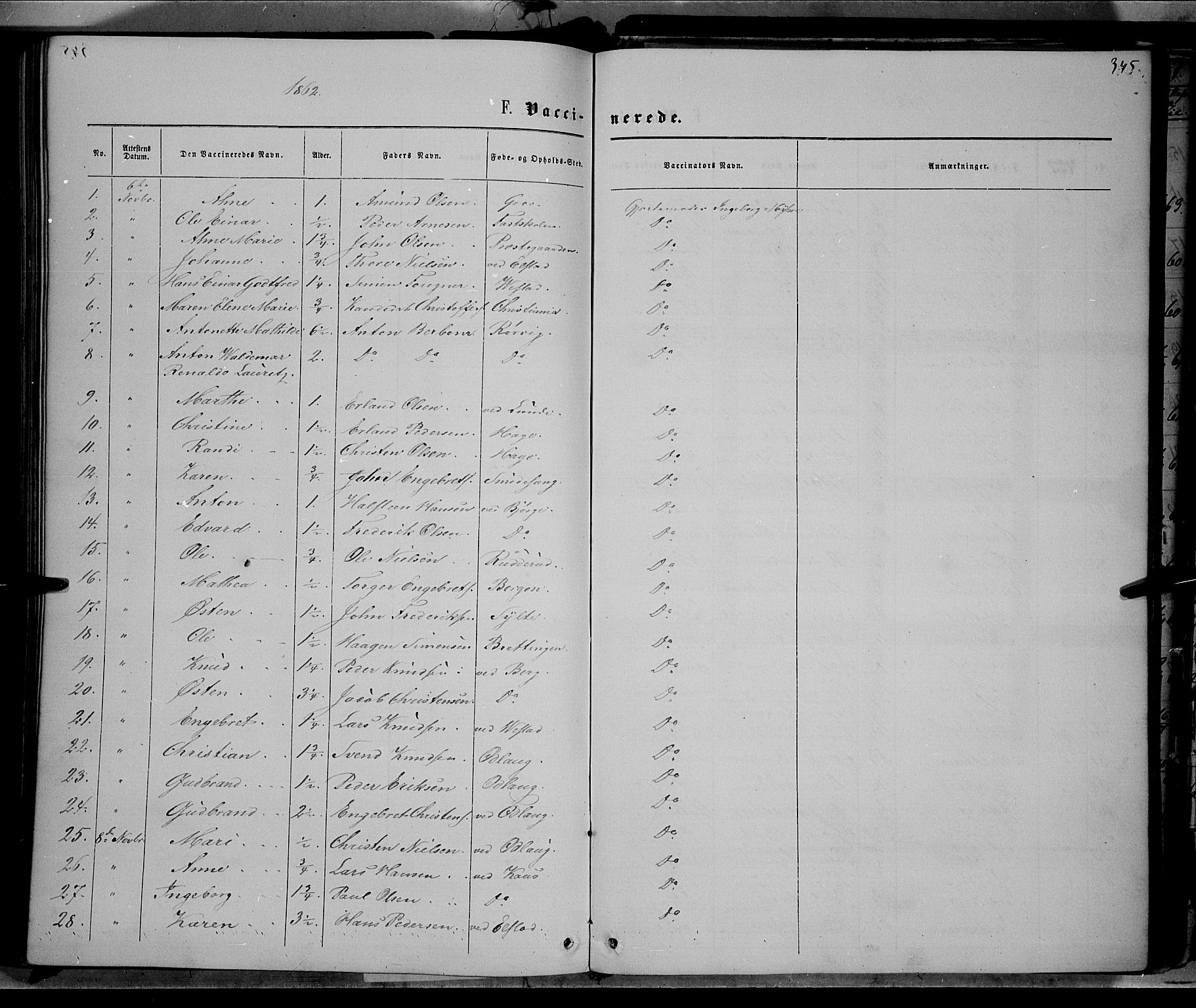 SAH, Ringebu prestekontor, Ministerialbok nr. 7, 1860-1877, s. 345