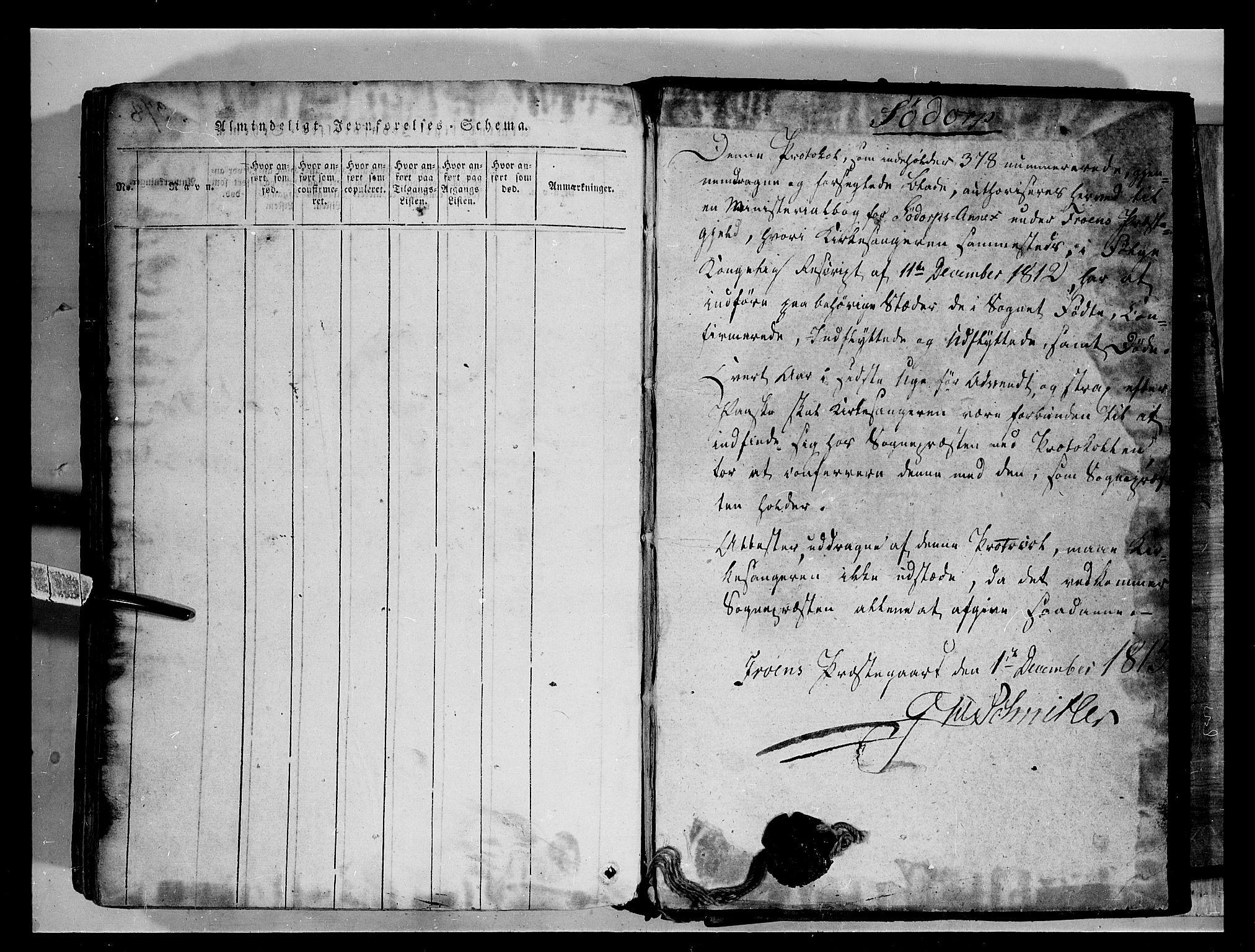 SAH, Fron prestekontor, H/Ha/Hab/L0004: Klokkerbok nr. 4, 1816-1850