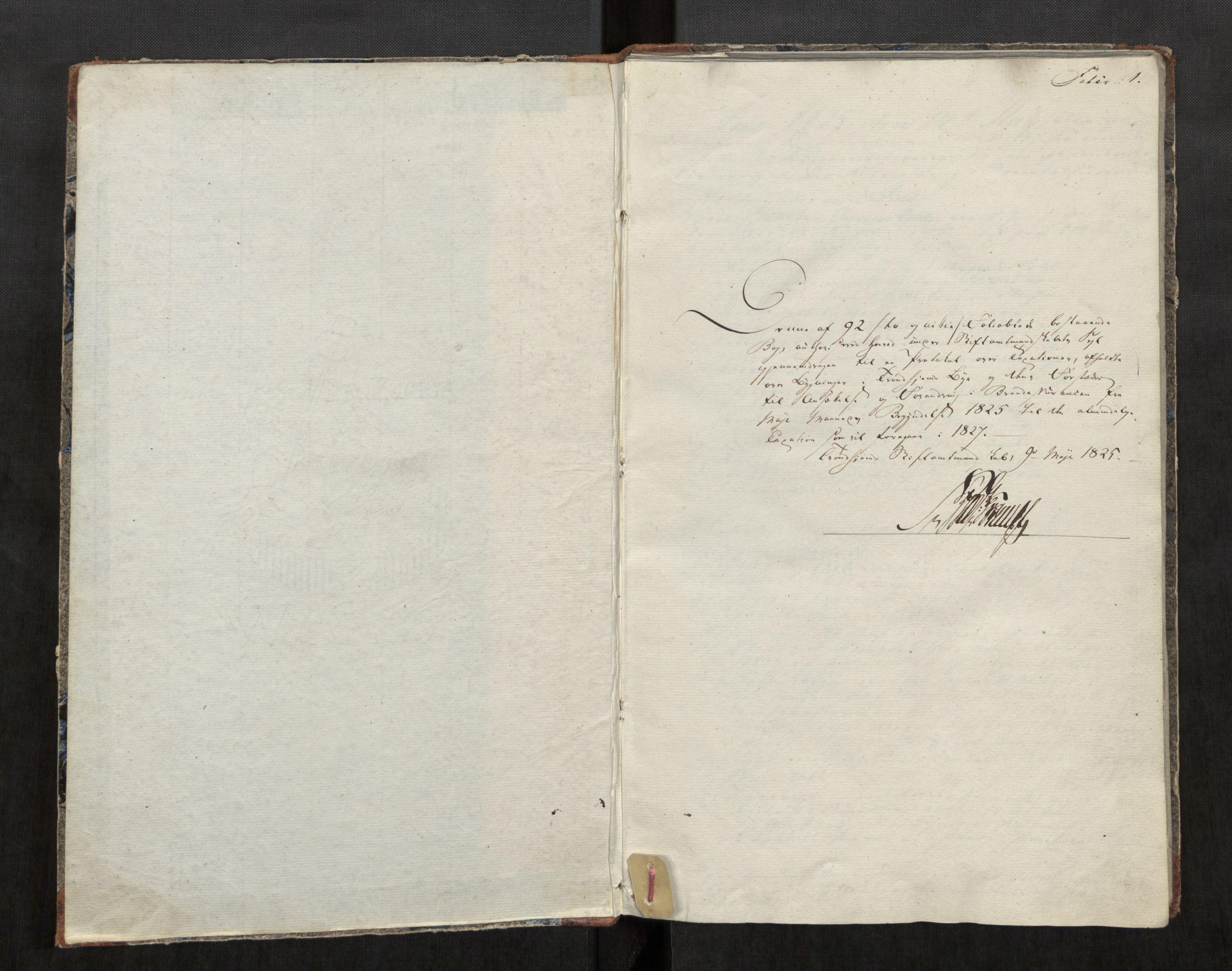 SAT, Norges Brannkasse Trondheim magistrat, Fa/L0011: Branntakstprotokoll K13, 1825-1827