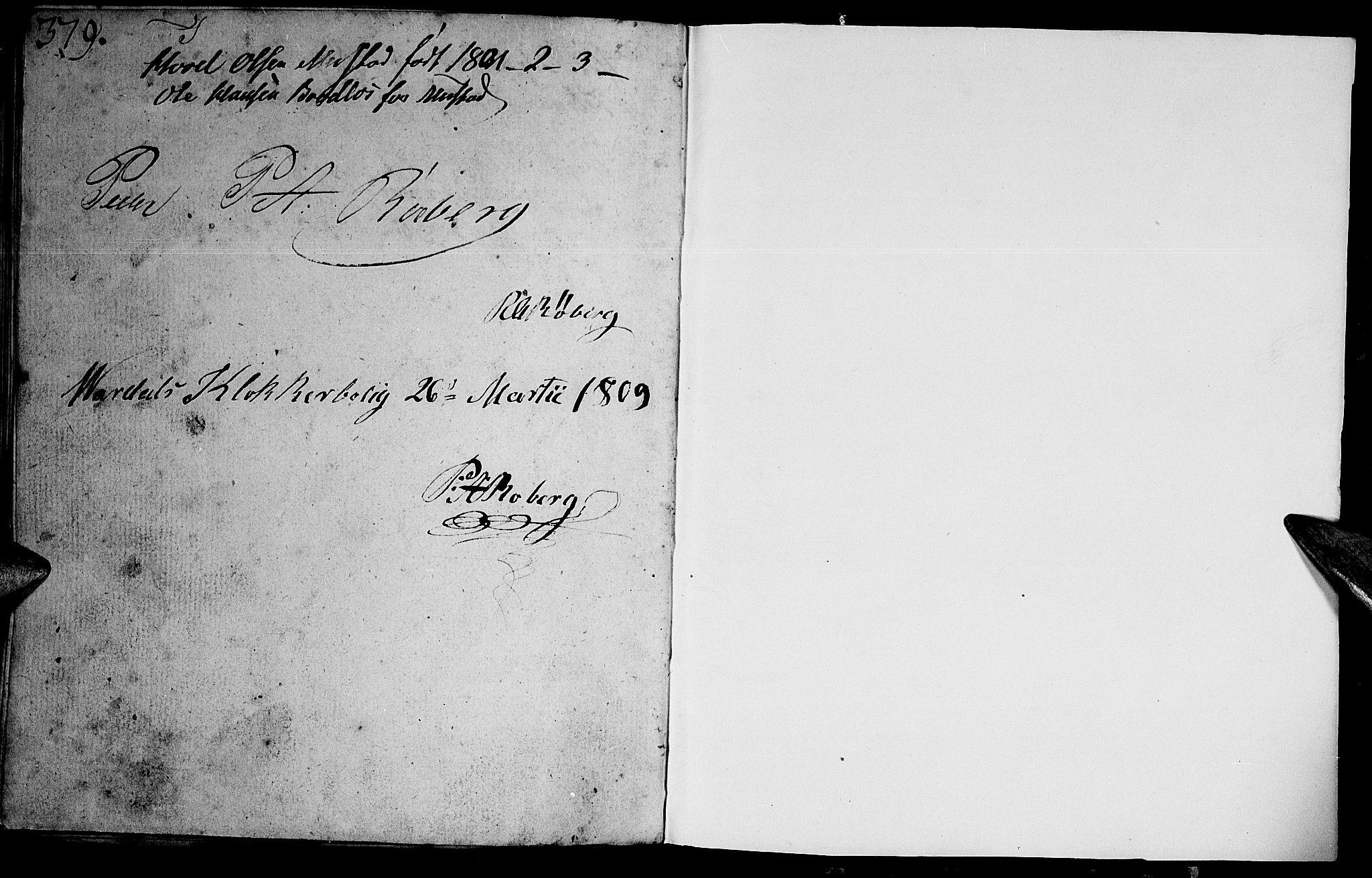 SAH, Vardal prestekontor, H/Ha/Hab/L0003: Klokkerbok nr. 3, 1803-1808, s. 379-380