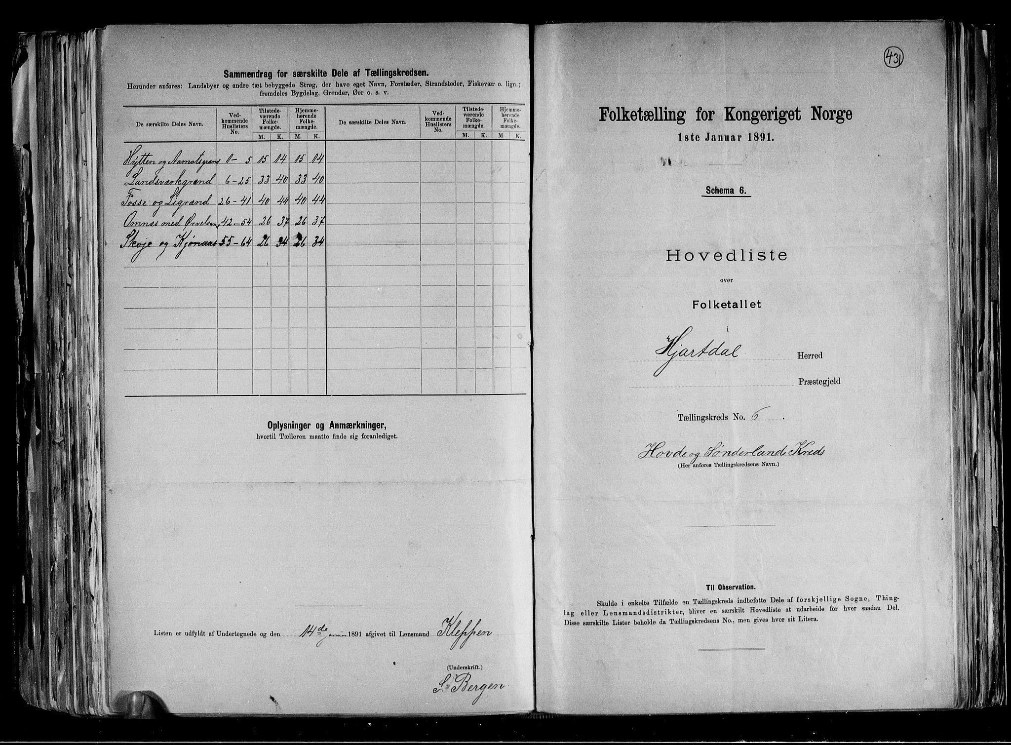 RA, Folketelling 1891 for 0827 Hjartdal herred, 1891, s. 17