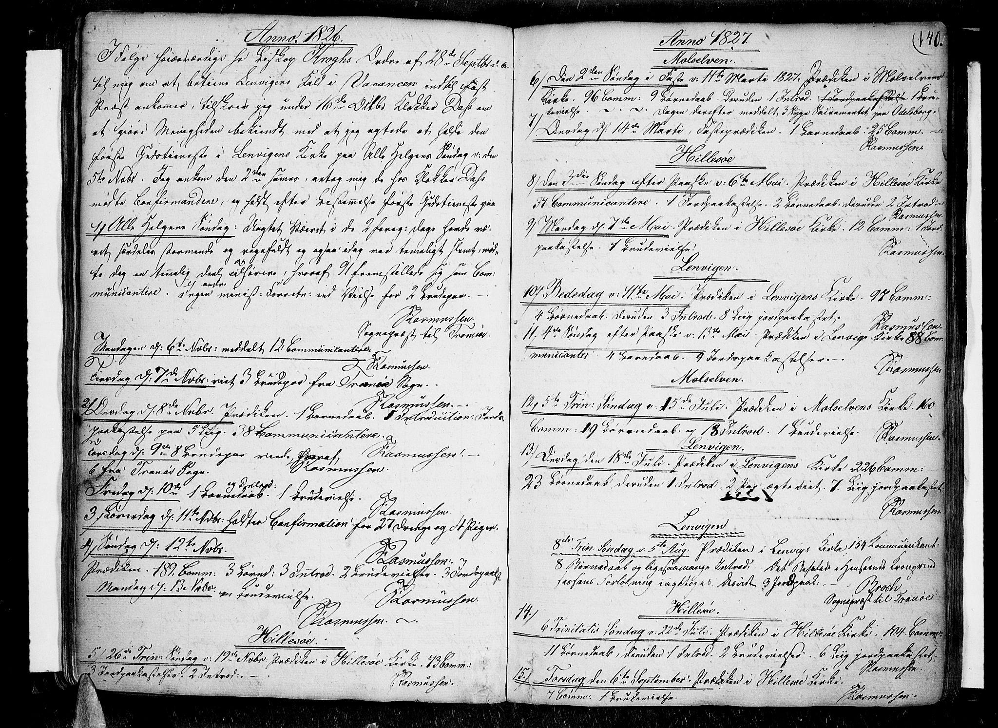 SATØ, Lenvik sokneprestembete, H/Ha: Ministerialbok nr. 2, 1784-1820, s. 140