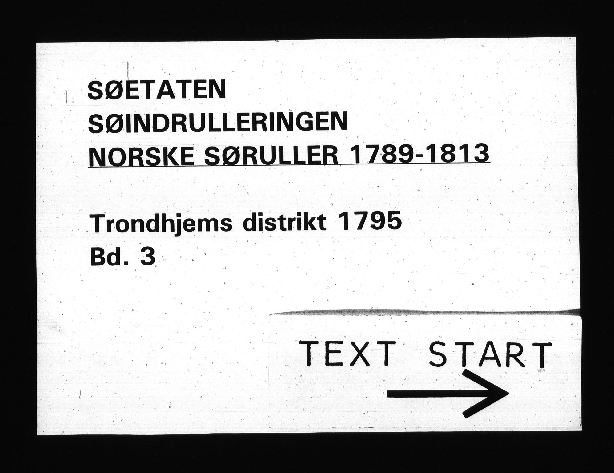 RA, Sjøetaten, F/L0312: Trondheim distrikt, bind 3, 1795