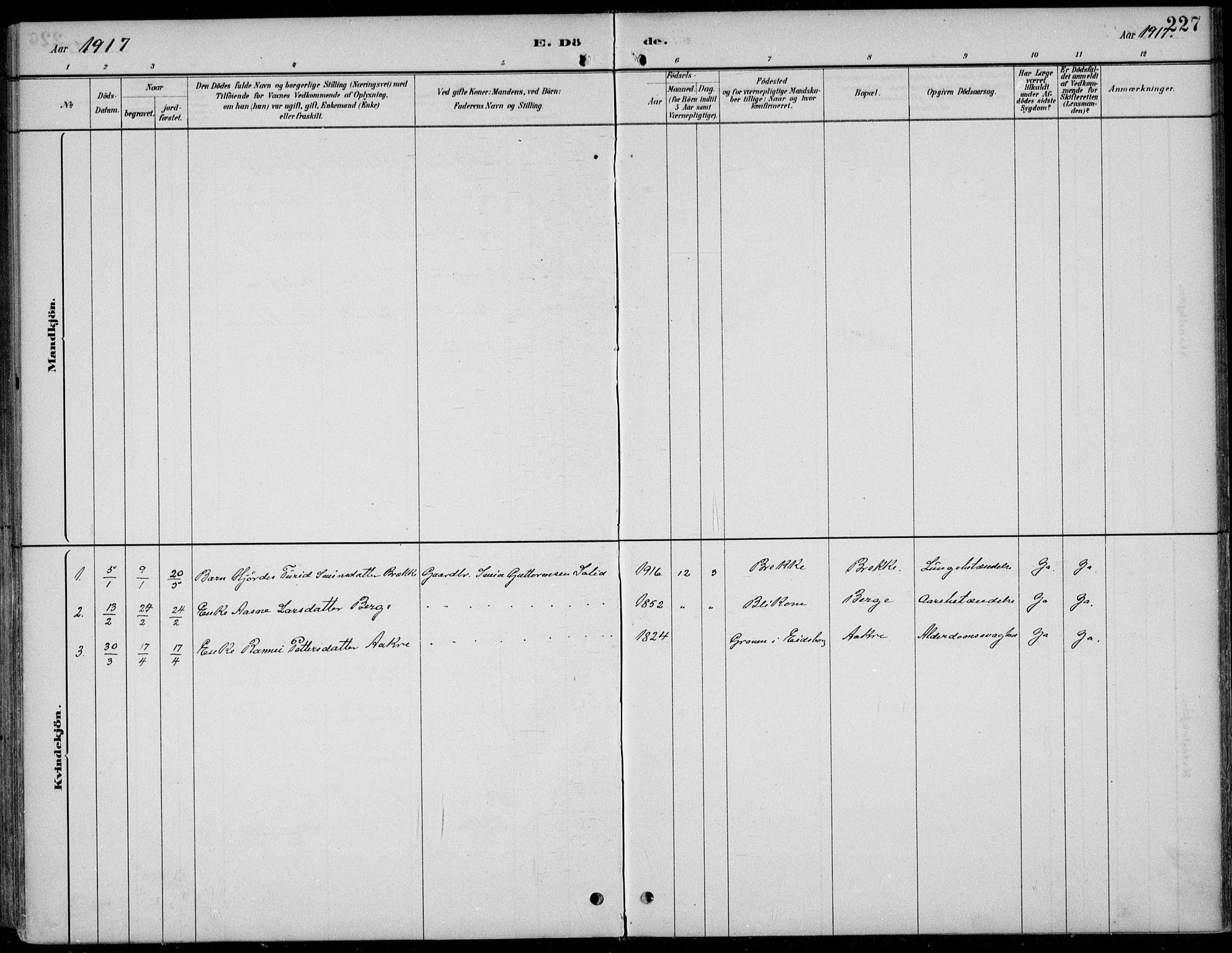 SAKO, Kviteseid kirkebøker, F/Fb/L0002: Ministerialbok nr. II 2, 1882-1916, s. 227