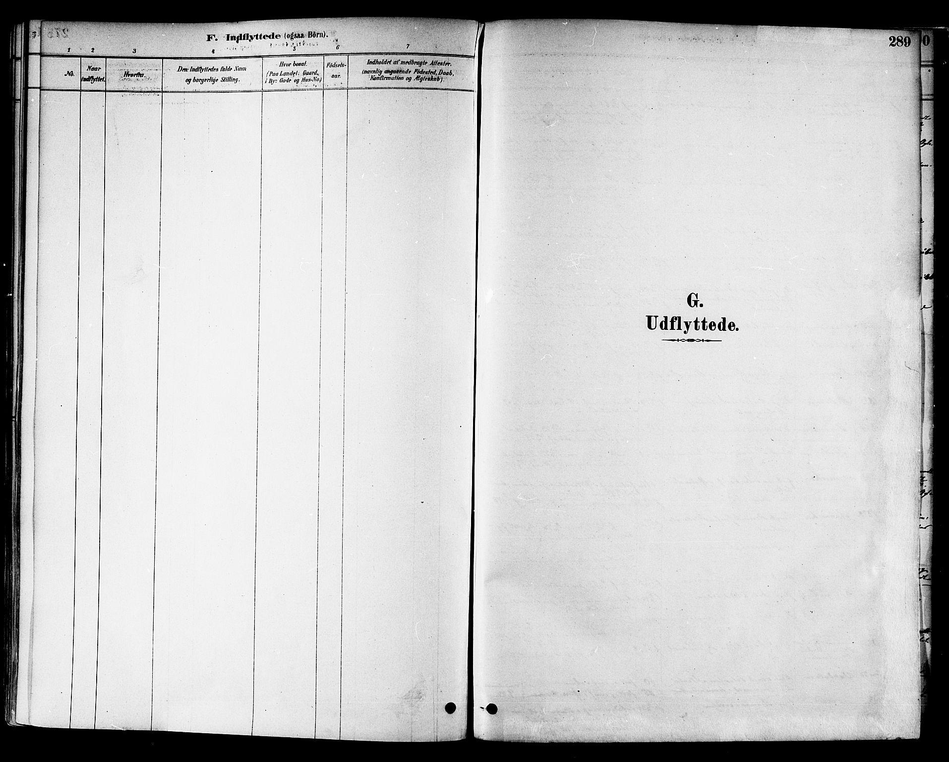SAT, Ministerialprotokoller, klokkerbøker og fødselsregistre - Nord-Trøndelag, 717/L0159: Ministerialbok nr. 717A09, 1878-1898, s. 289
