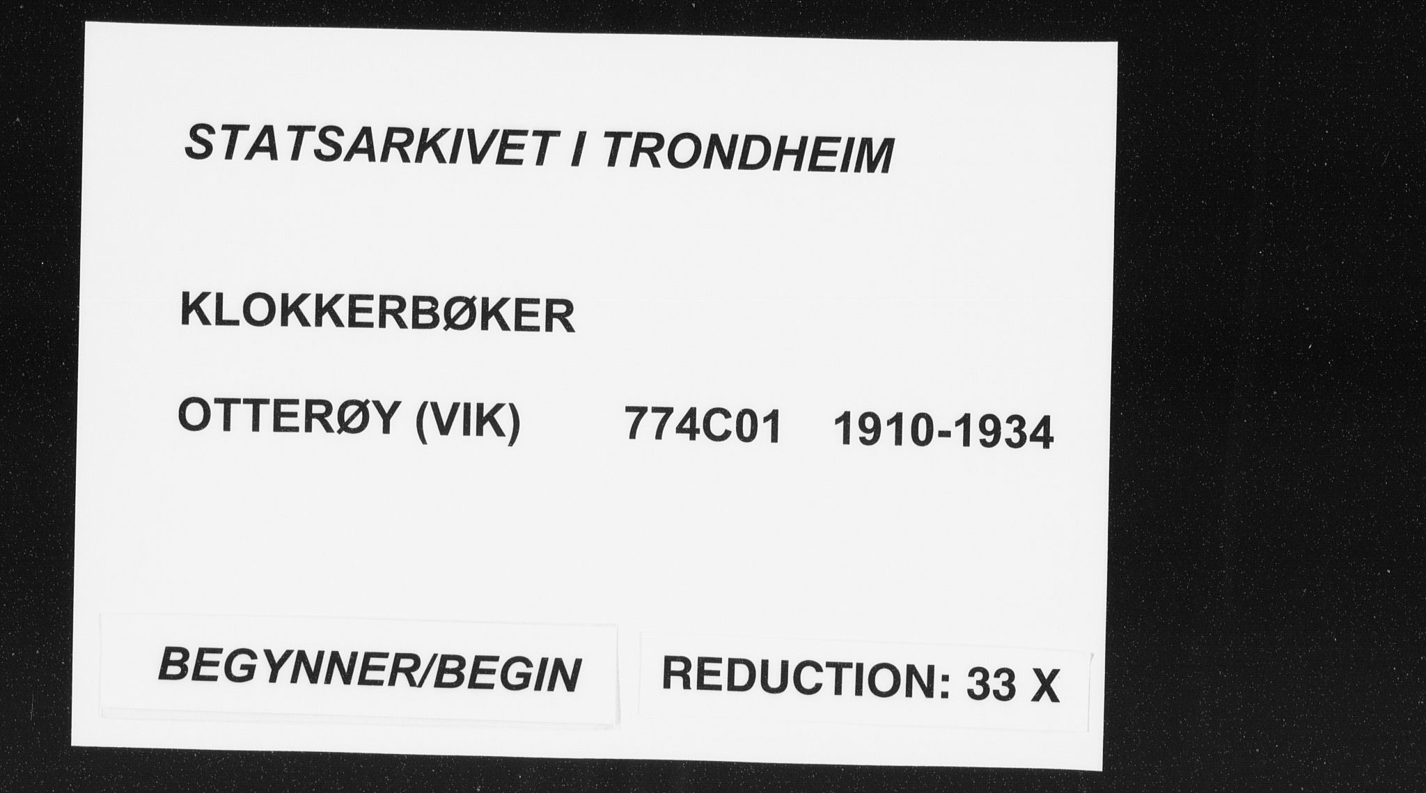 SAT, Ministerialprotokoller, klokkerbøker og fødselsregistre - Nord-Trøndelag, 774/L0630: Klokkerbok nr. 774C01, 1910-1934