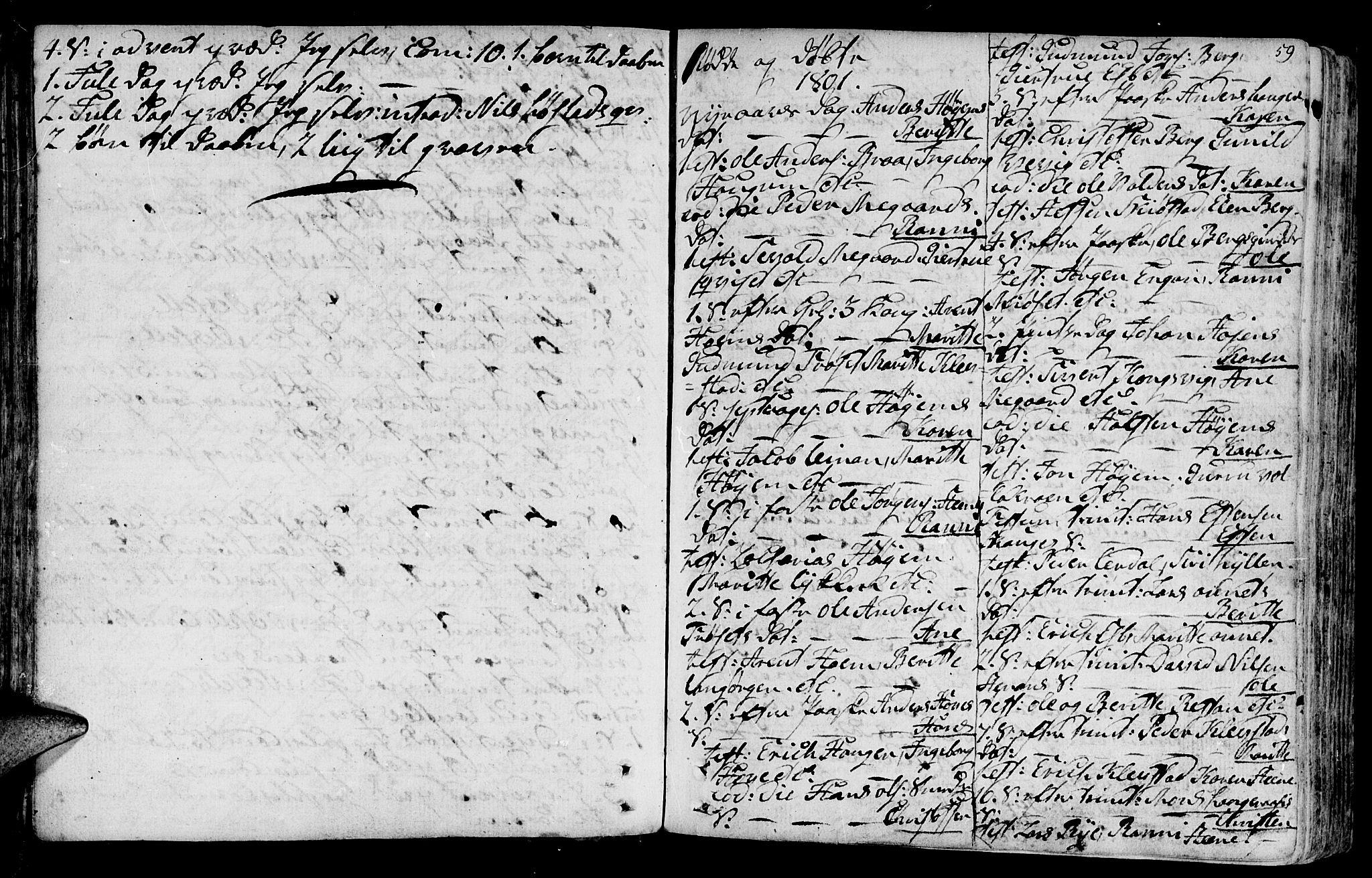 SAT, Ministerialprotokoller, klokkerbøker og fødselsregistre - Sør-Trøndelag, 612/L0370: Ministerialbok nr. 612A04, 1754-1802, s. 59