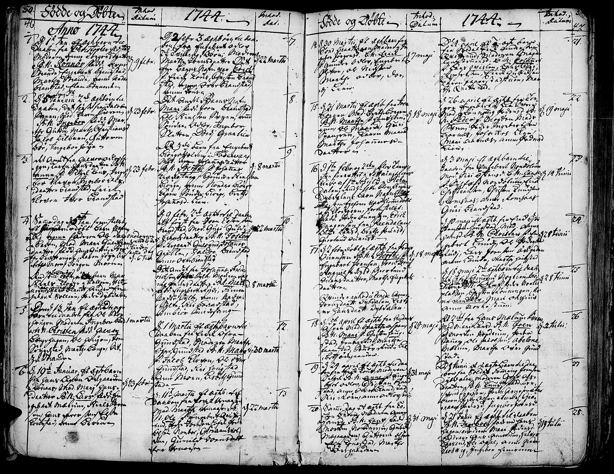 SAH, Ringebu prestekontor, Ministerialbok nr. 2, 1734-1780, s. 46-47