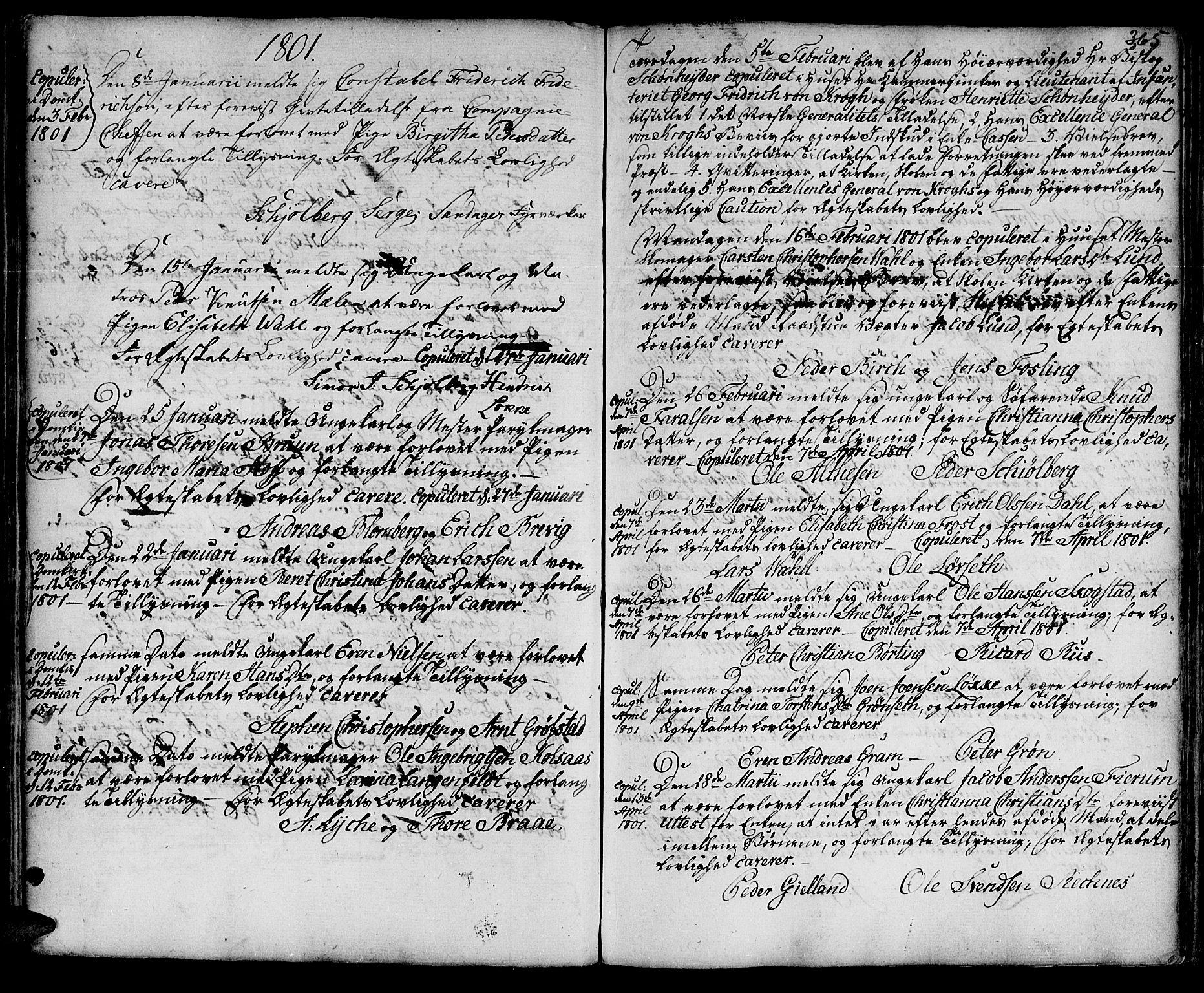 SAT, Ministerialprotokoller, klokkerbøker og fødselsregistre - Sør-Trøndelag, 601/L0038: Ministerialbok nr. 601A06, 1766-1877, s. 365