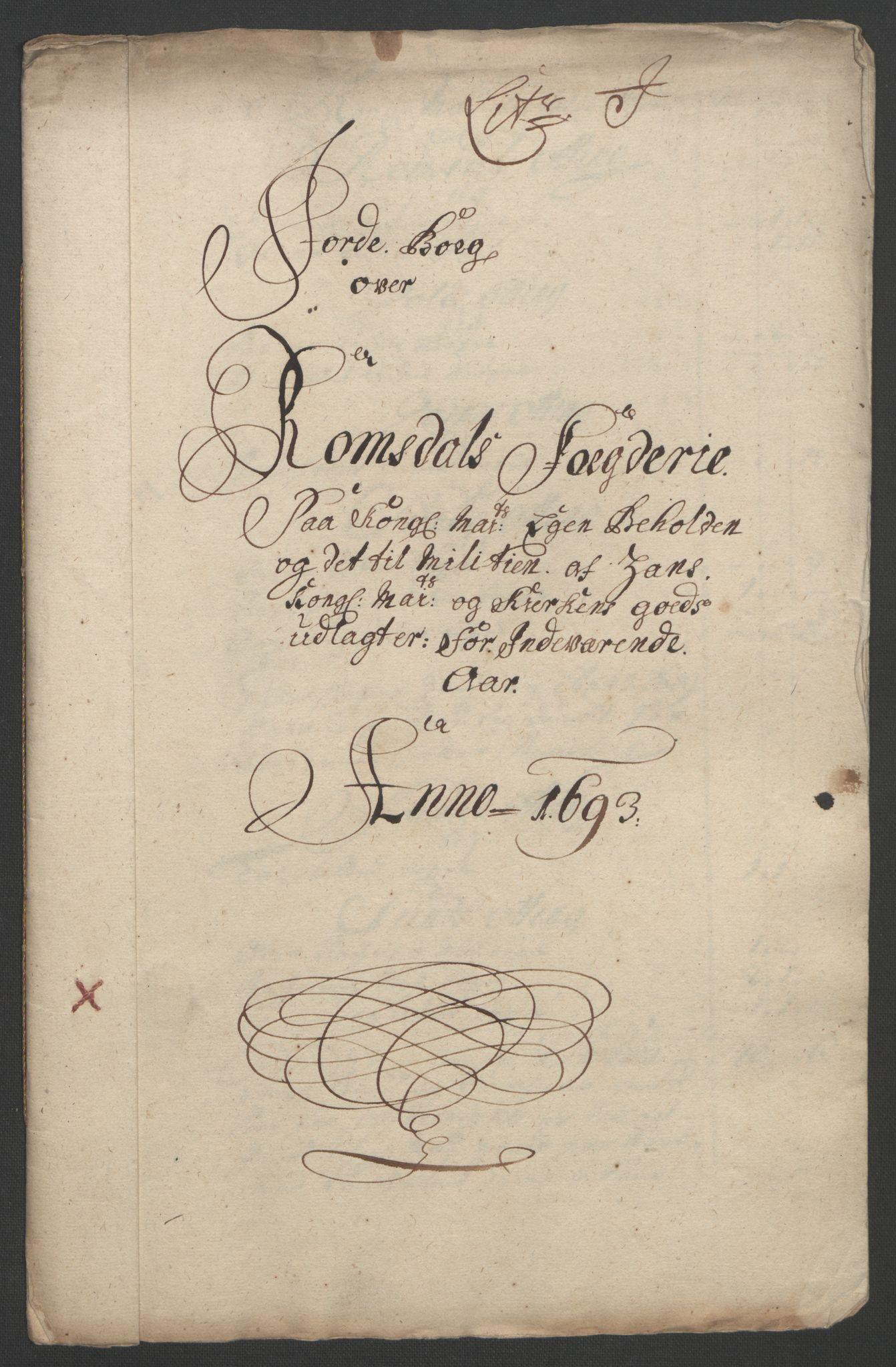 RA, Rentekammeret inntil 1814, Reviderte regnskaper, Fogderegnskap, R55/L3651: Fogderegnskap Romsdal, 1693-1694, s. 100