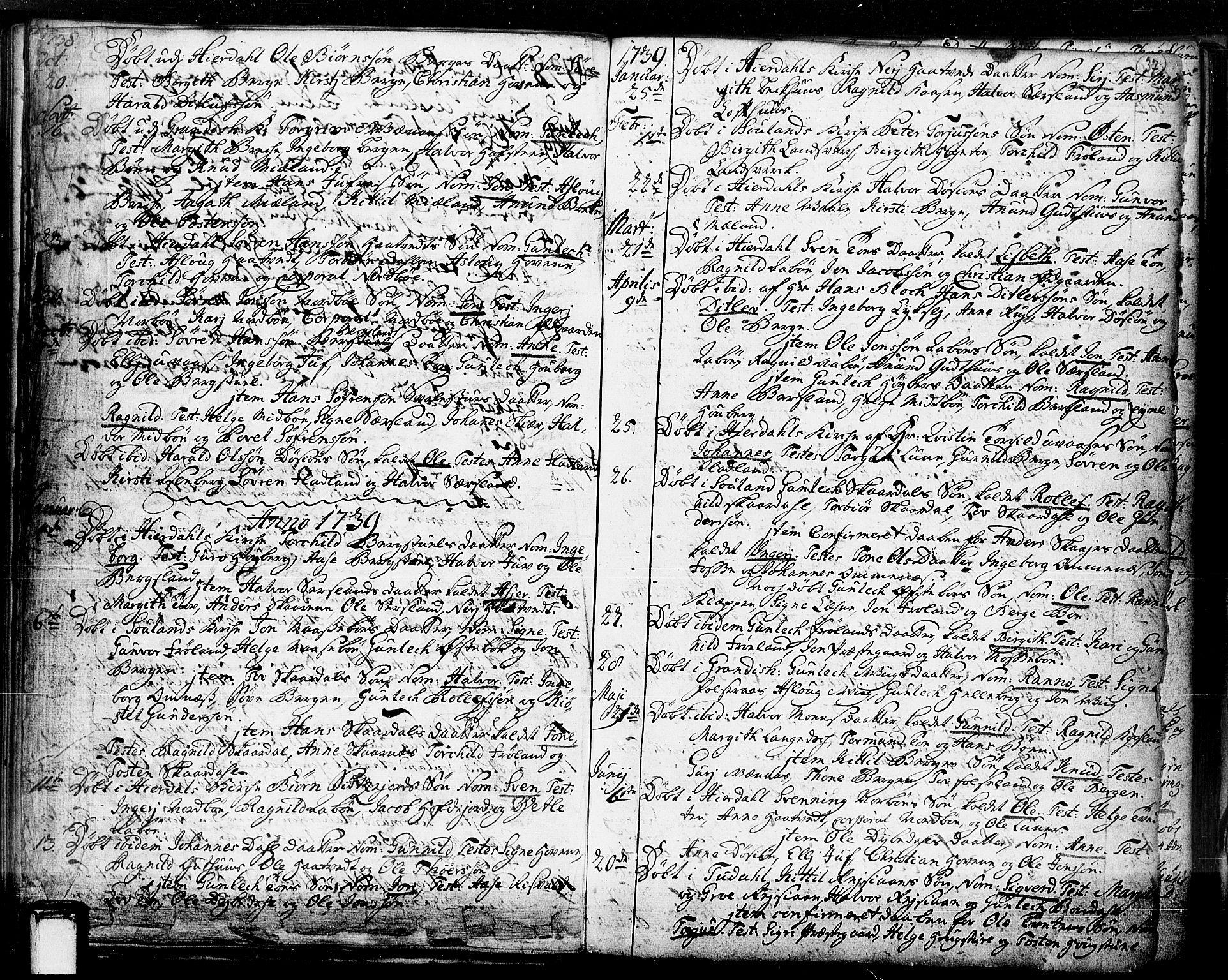 SAKO, Hjartdal kirkebøker, F/Fa/L0003: Ministerialbok nr. I 3, 1727-1775, s. 37