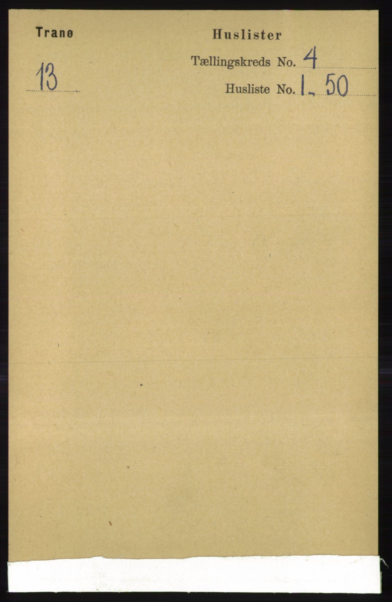 RA, Folketelling 1891 for 1927 Tranøy herred, 1891, s. 1383